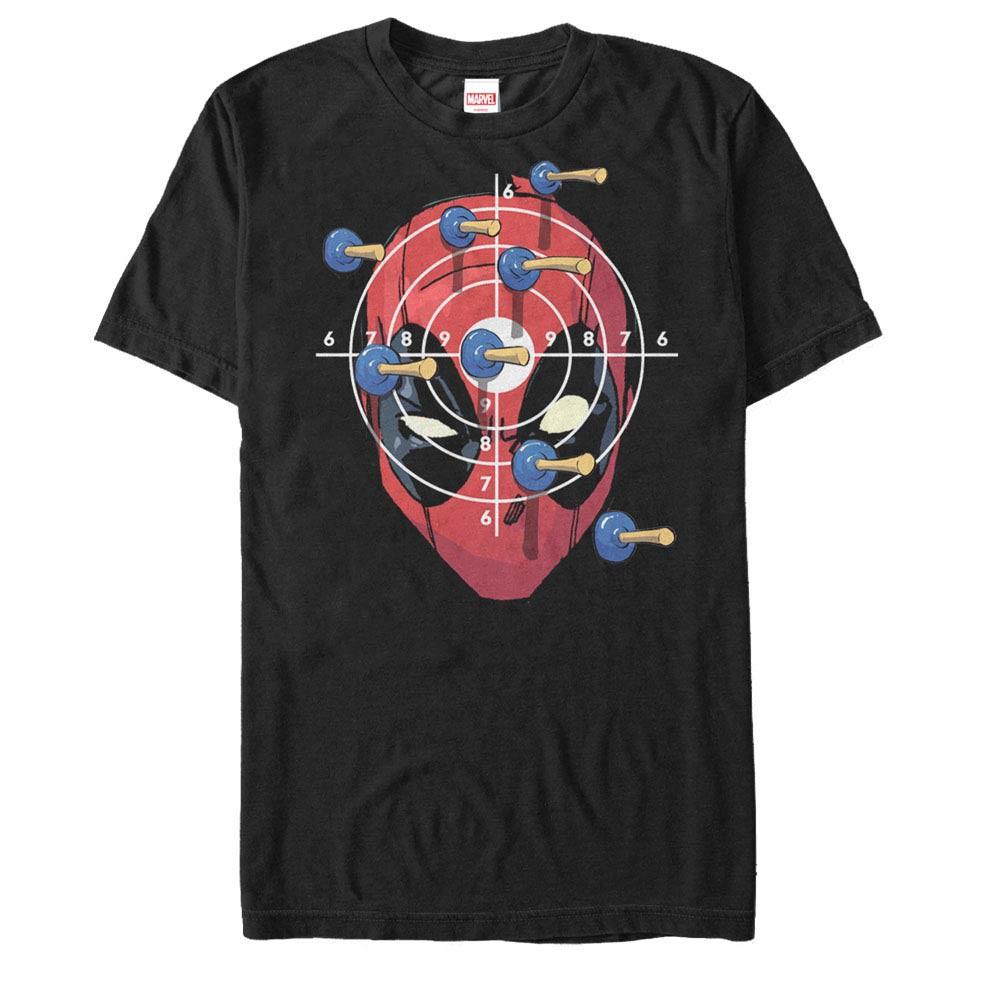 Deadpool Target Practice Black Mens T-Shirt