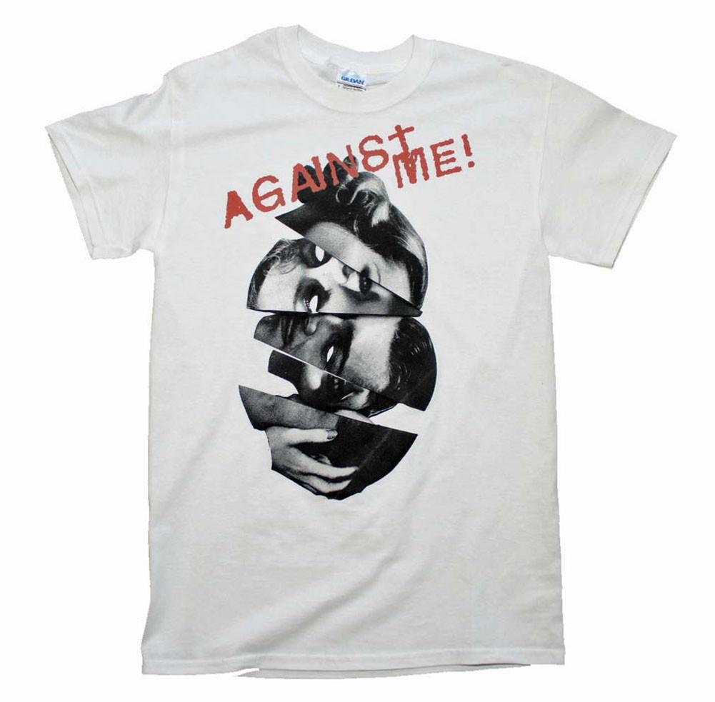 Against Me Men's White Heads T-Shirt