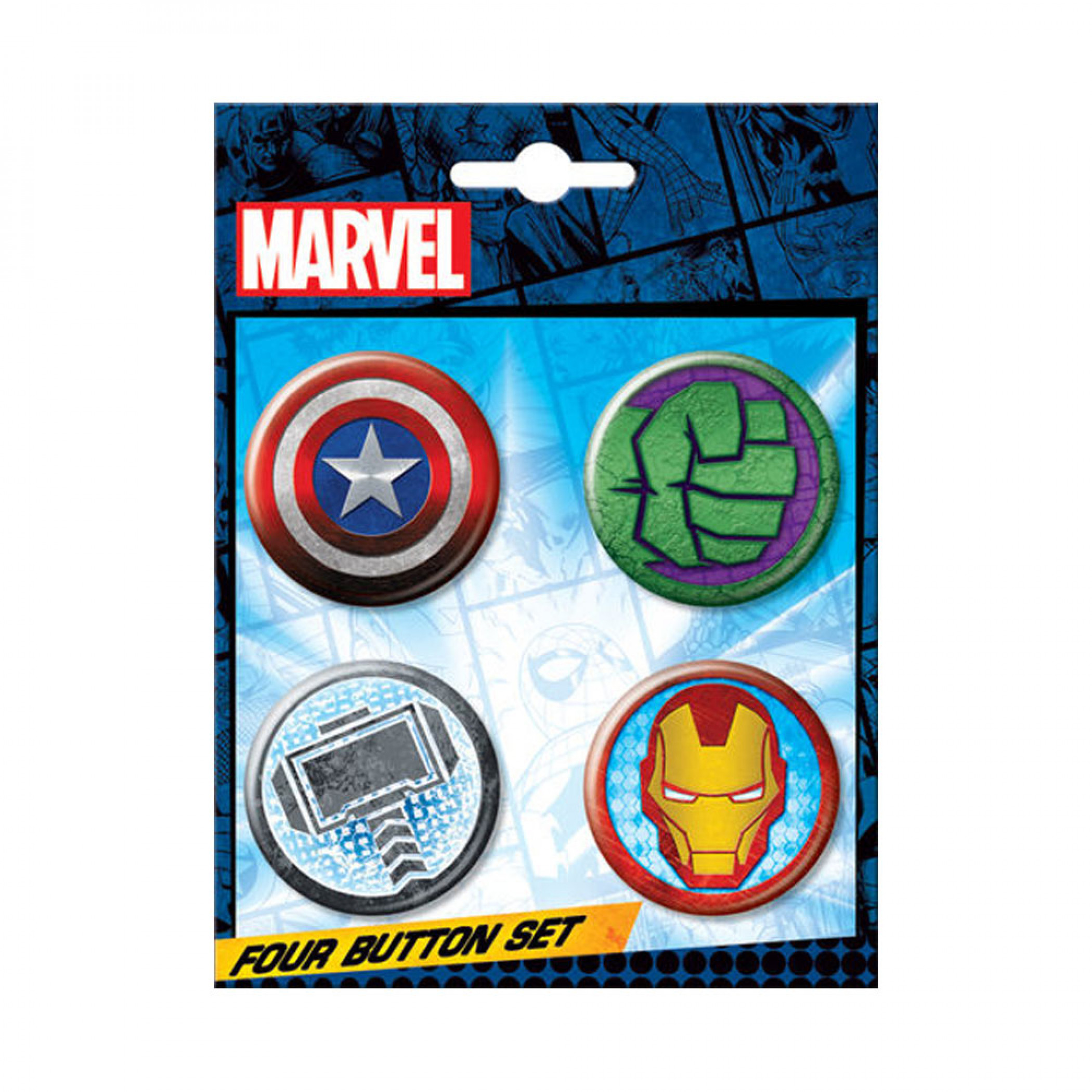 Avengers Logos 4-Piece Button Set