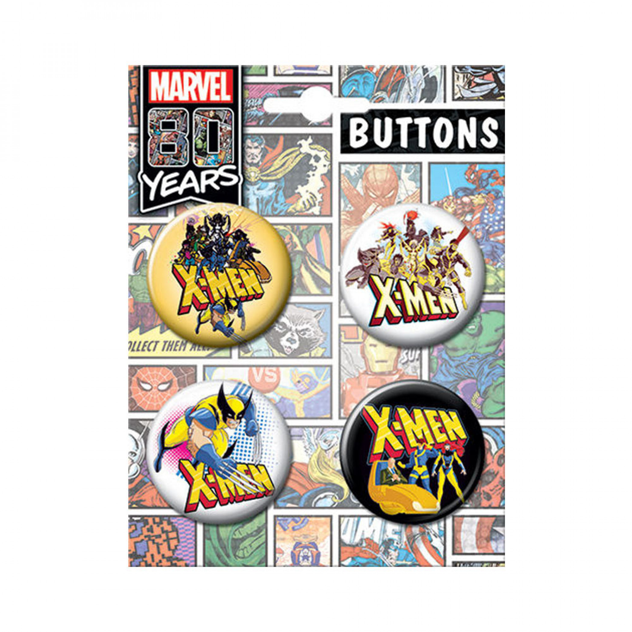 X-Men 4-Pack Button Set