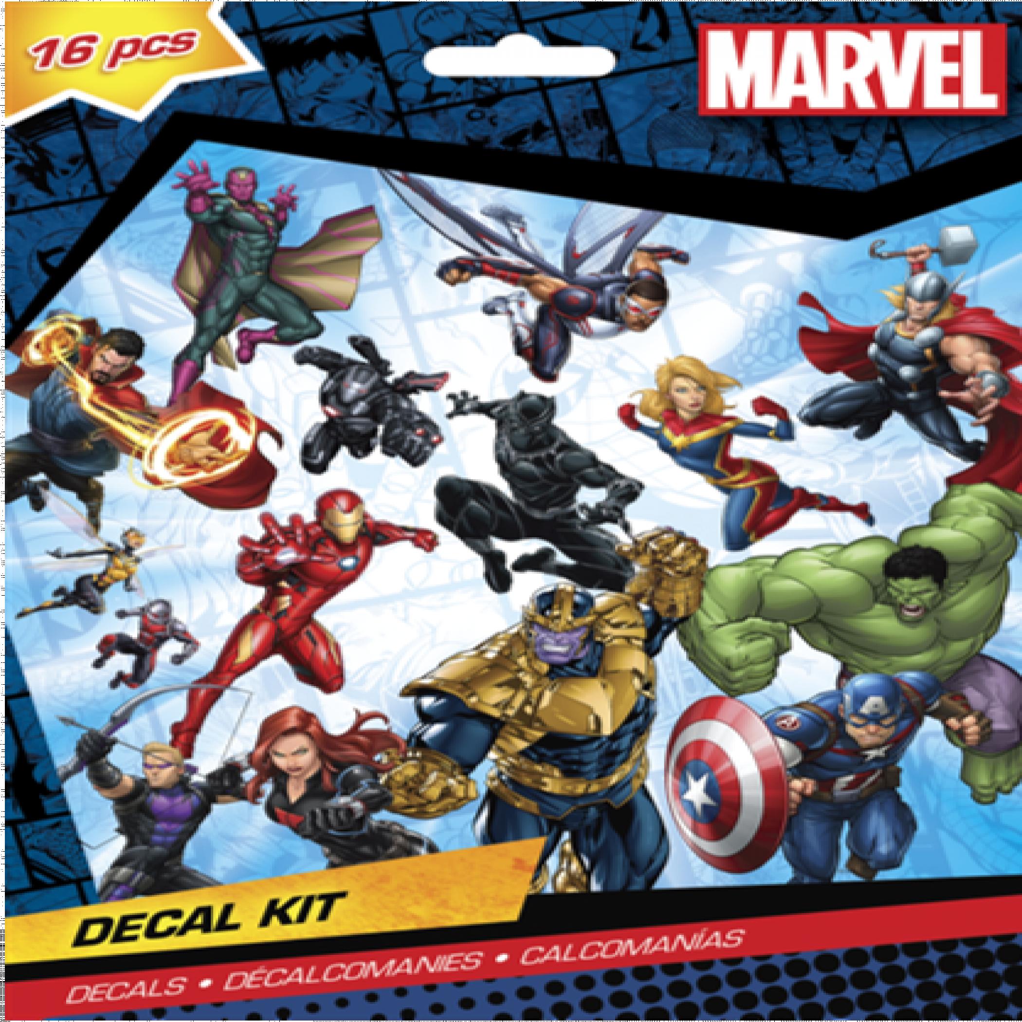 Marvel Avengers 16 Piece Decal Kit