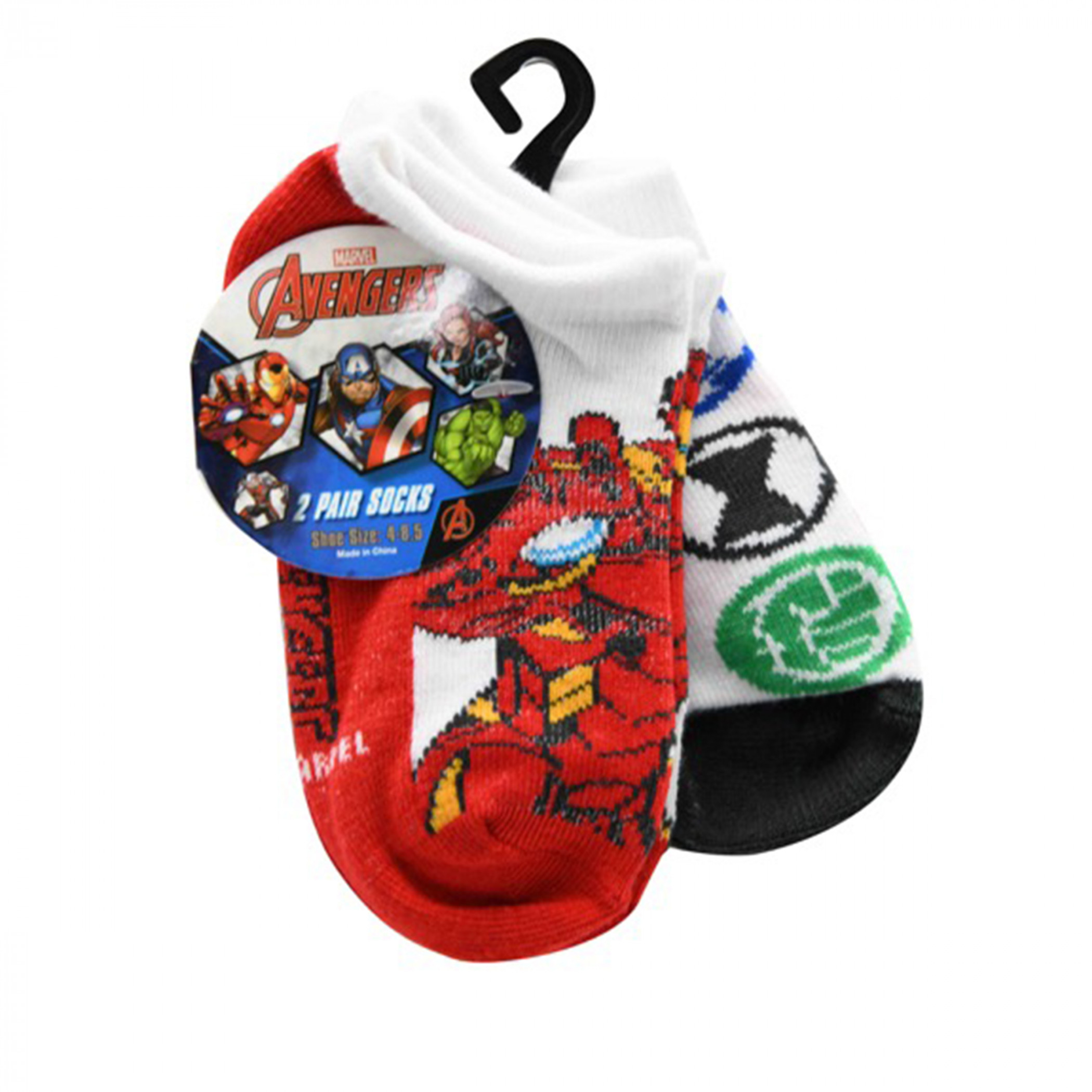 Avengers Toddlers 2-Pack Socks