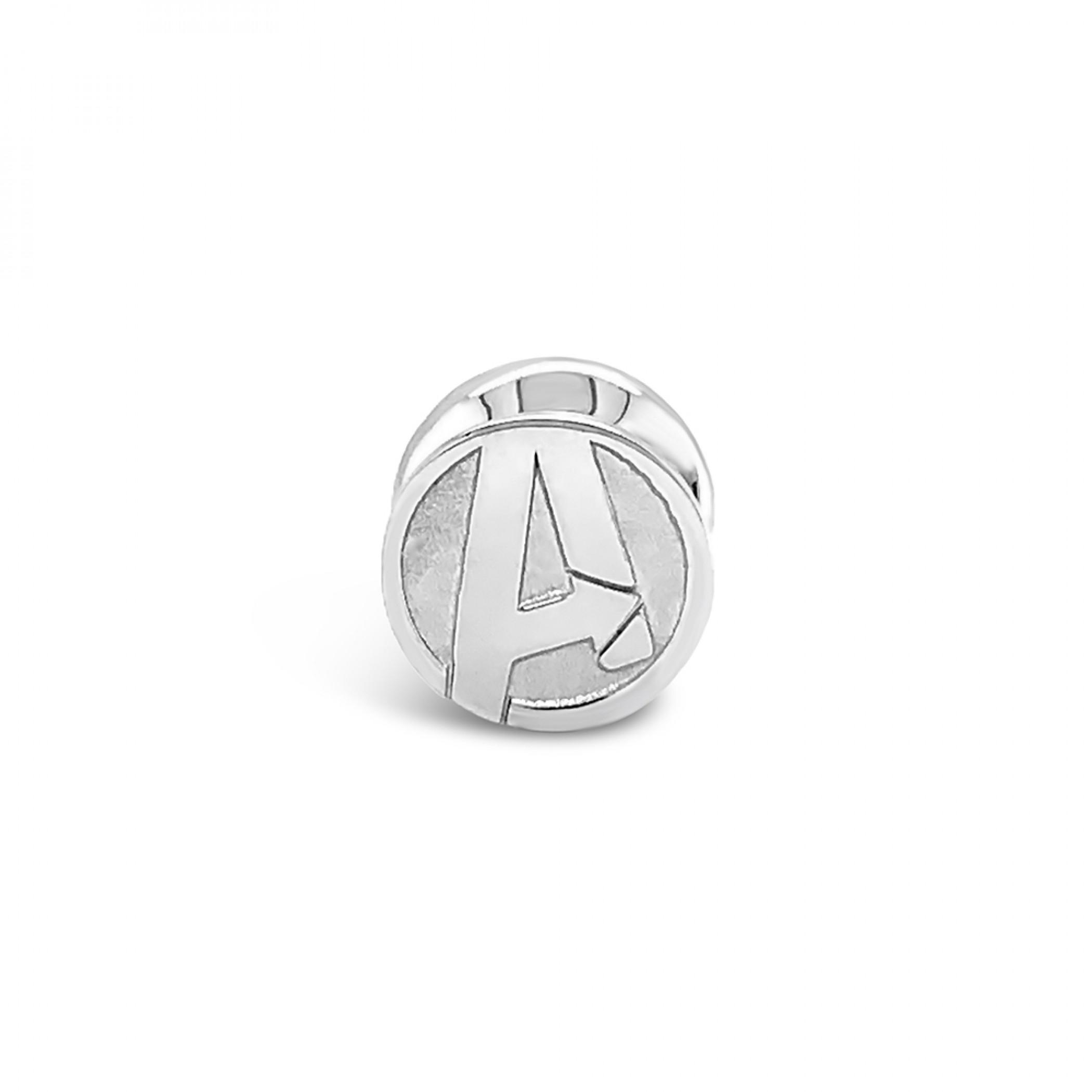 Marvel Avengers Logo Sterling Silver Pendant Bead