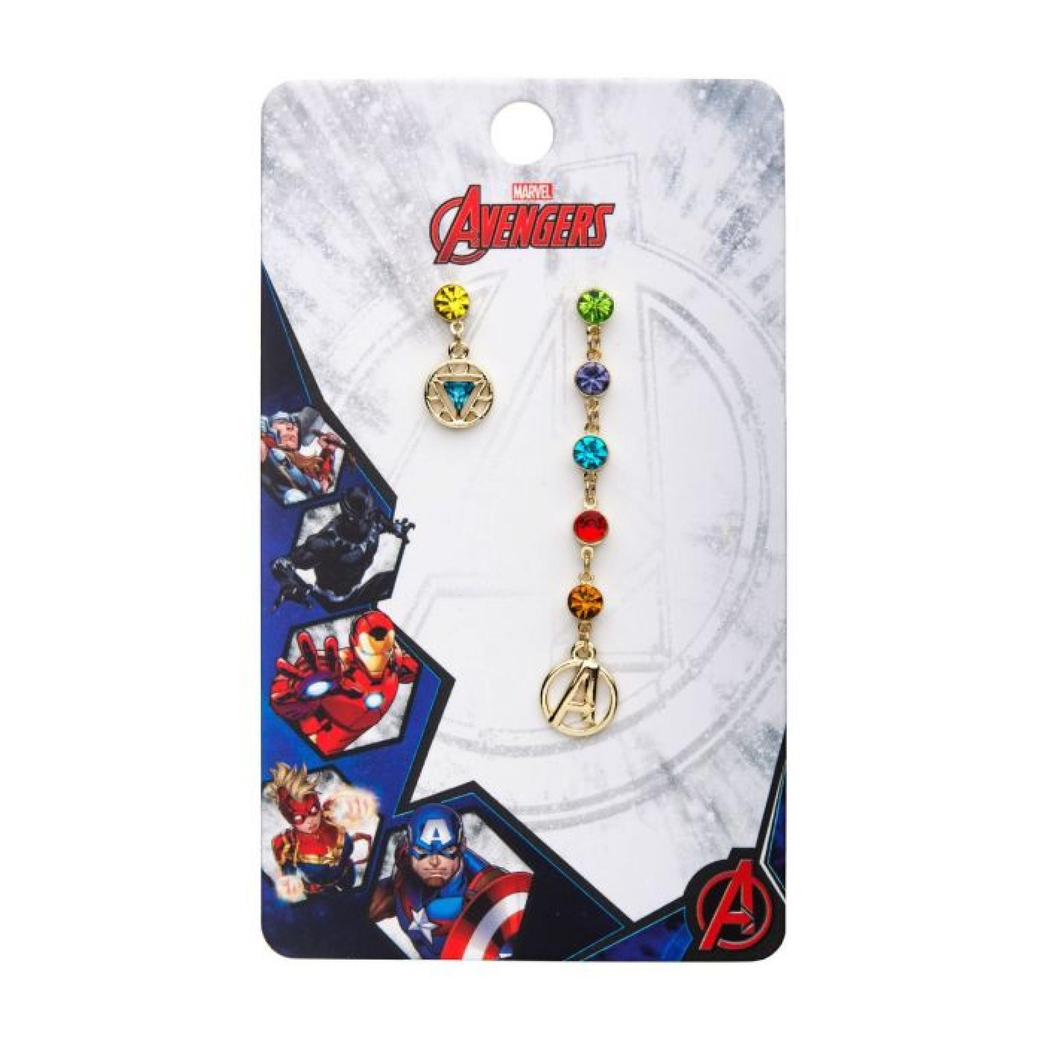 Marvel Avengers End Game Stones Stud Earrings Set