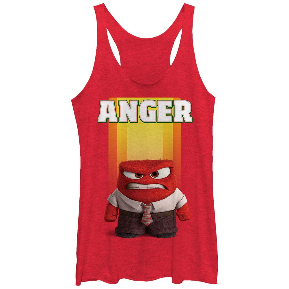 Disney Pixar Inside Out Anger Red Juniors Racerback Tank Top