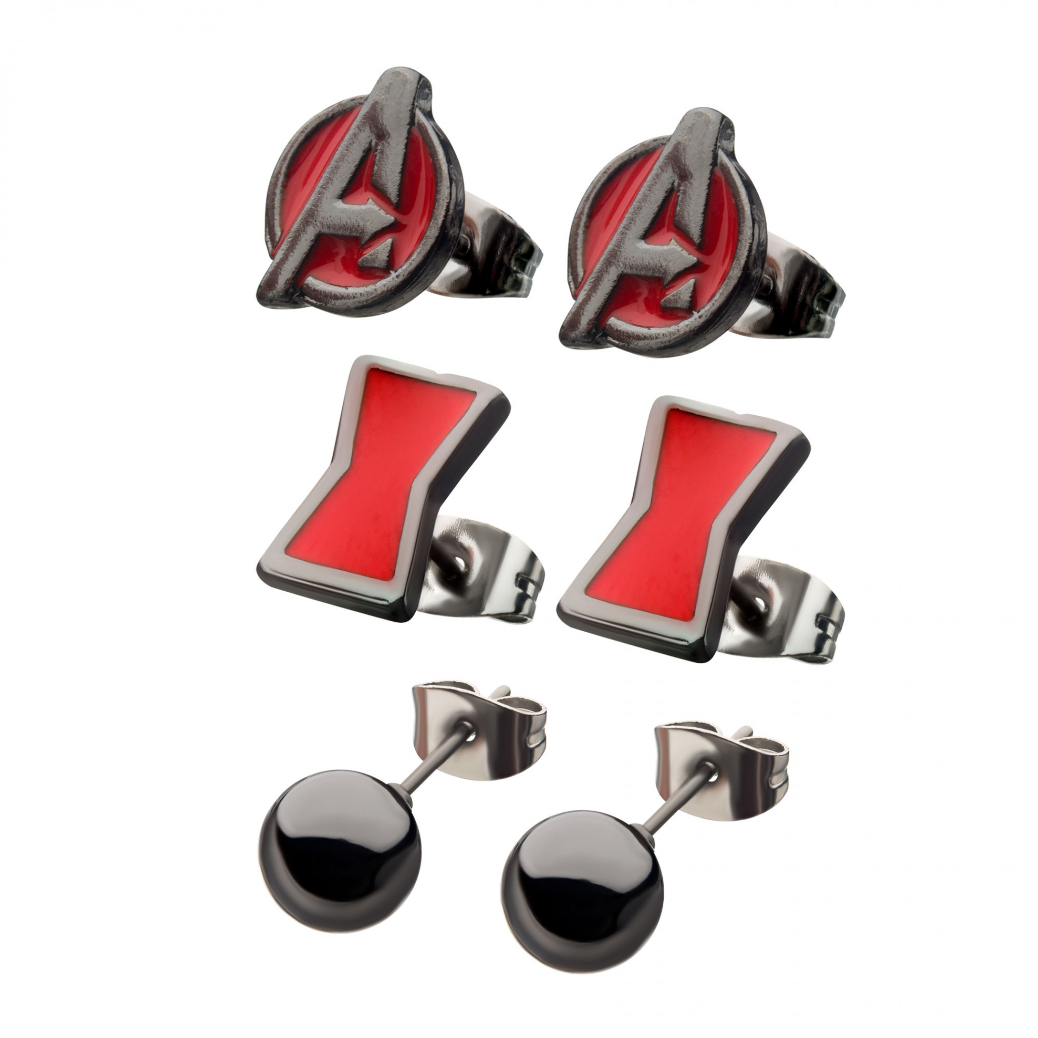 Black Widow Movie Earrings 3-Piece Set
