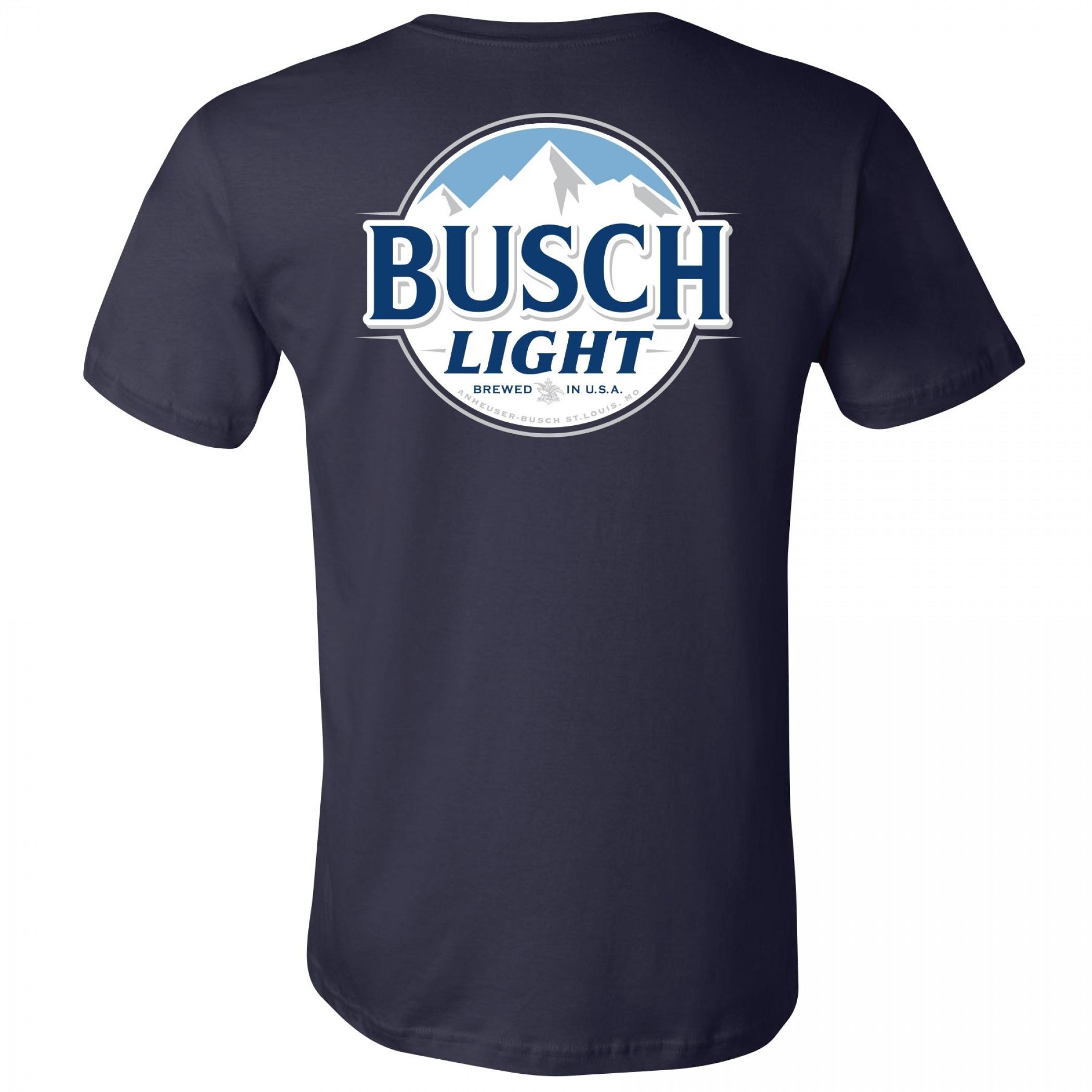Busch Light Blue Front And Back Pocket T-Shirt