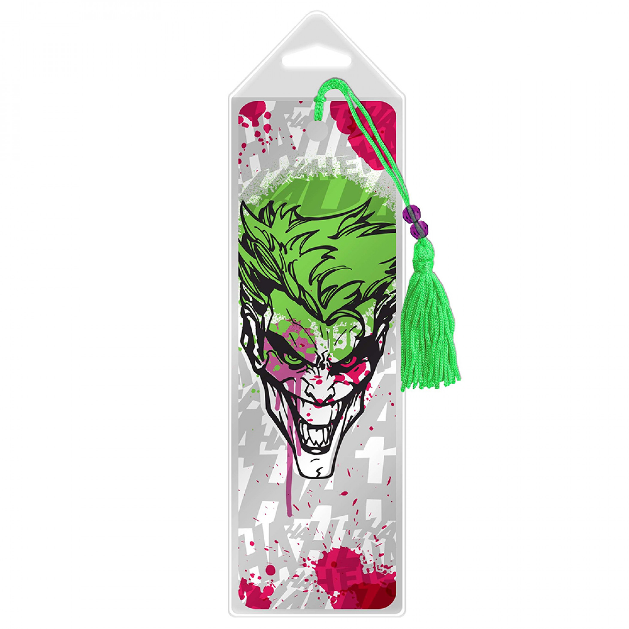 Joker Character Hahaha Graffiti Splatter Bookmark