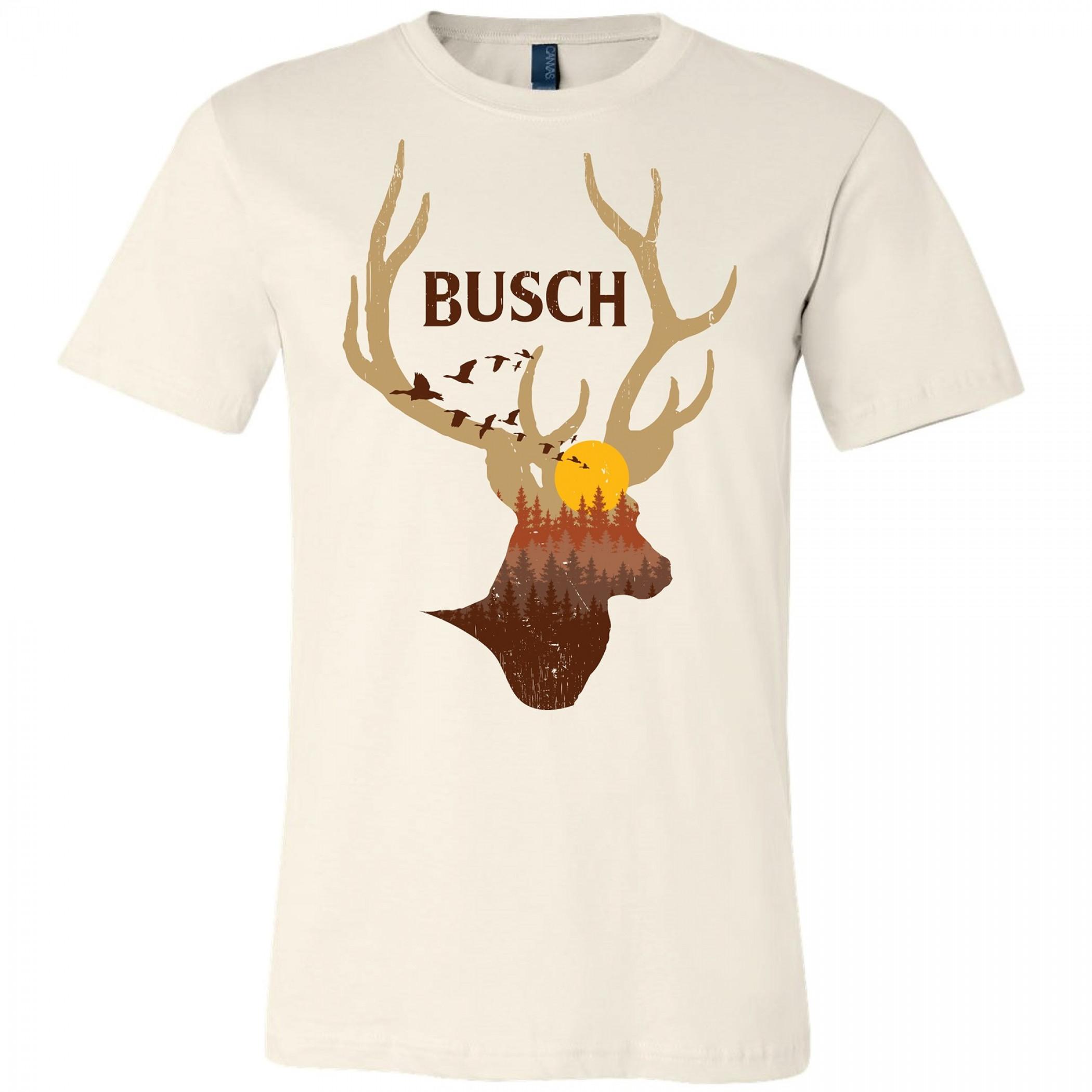 Busch Beer Deer Horns Sunset T-Shirt