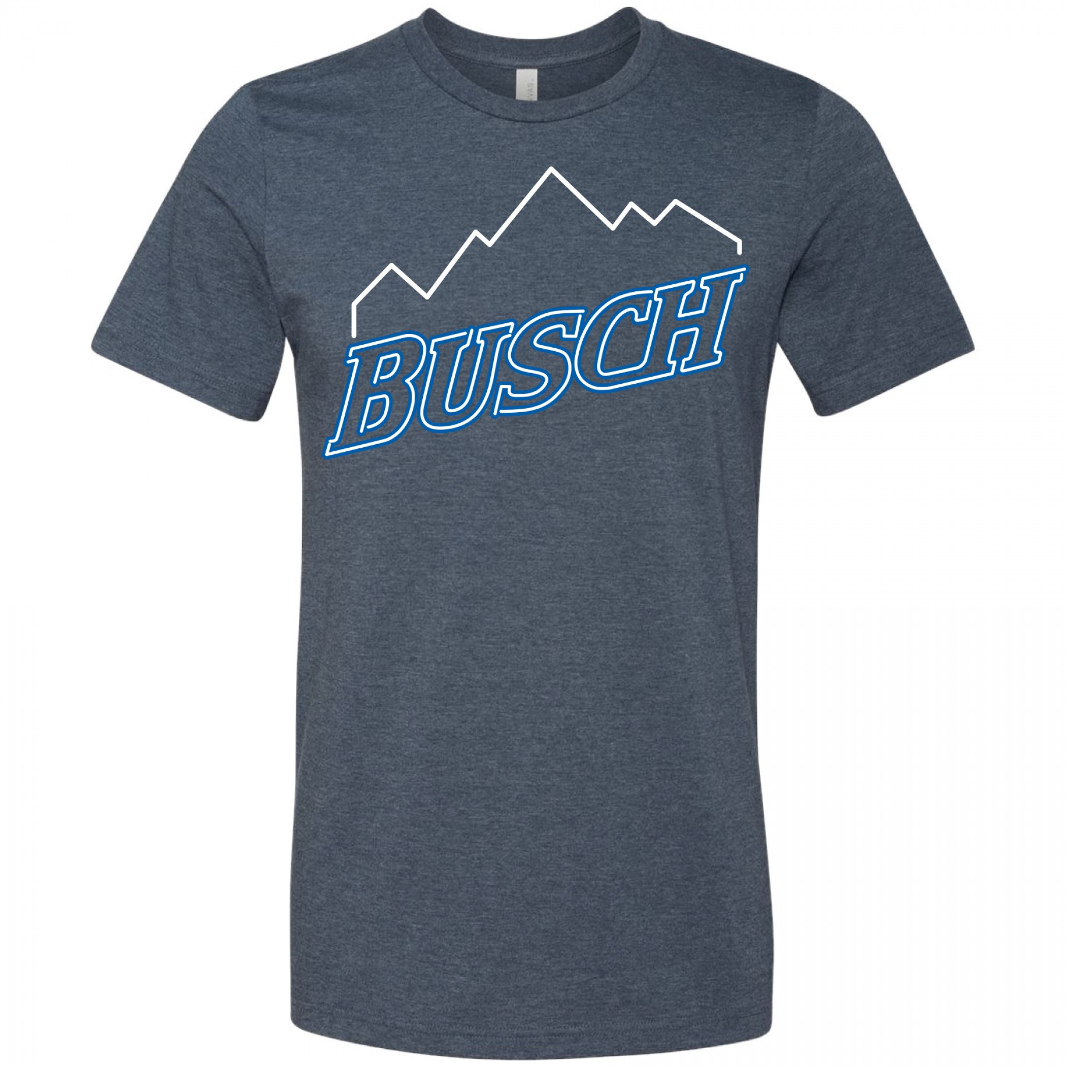 Busch Mountain Logo Neon Sign T-Shirt