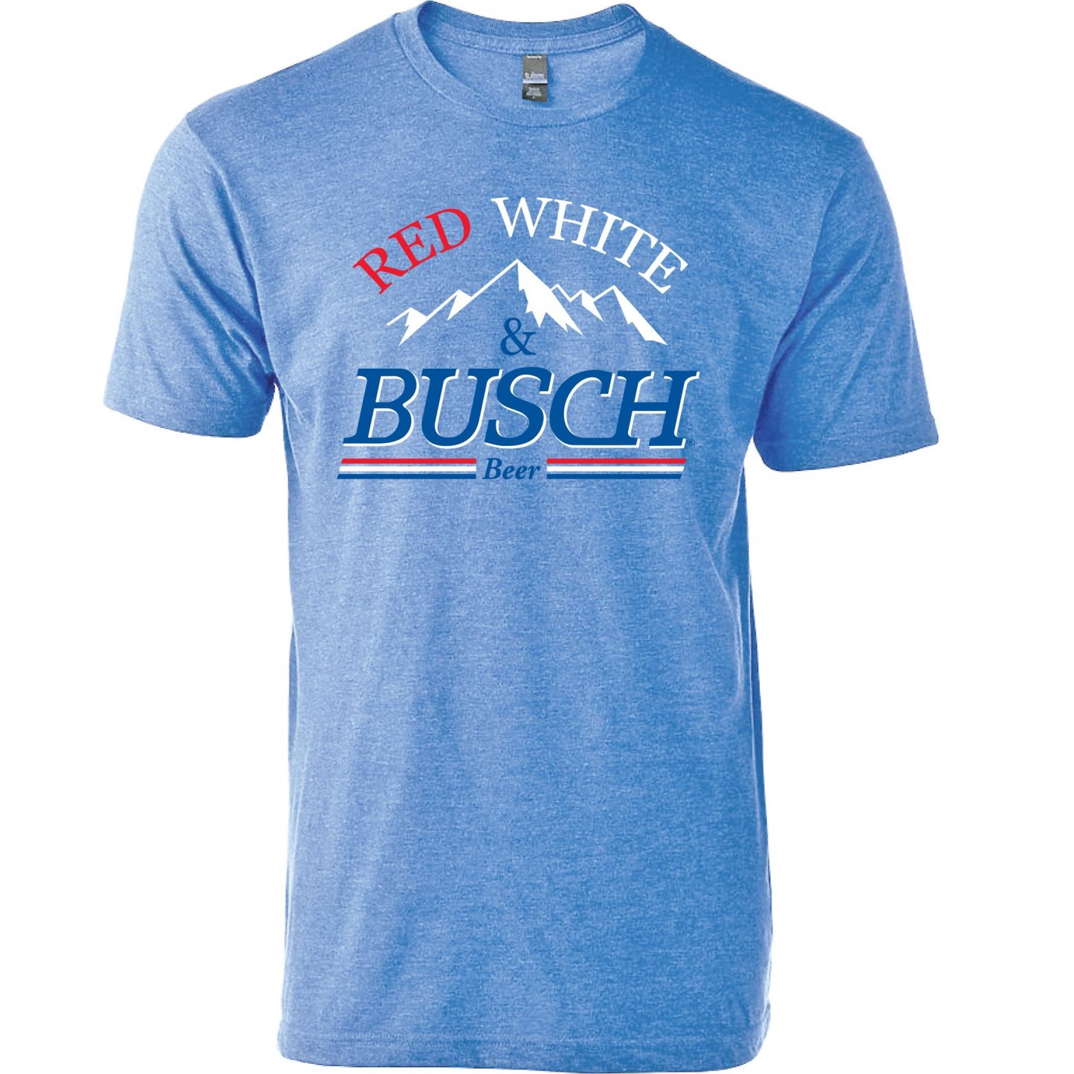 Busch Beer Red White & Busch T-Shirt