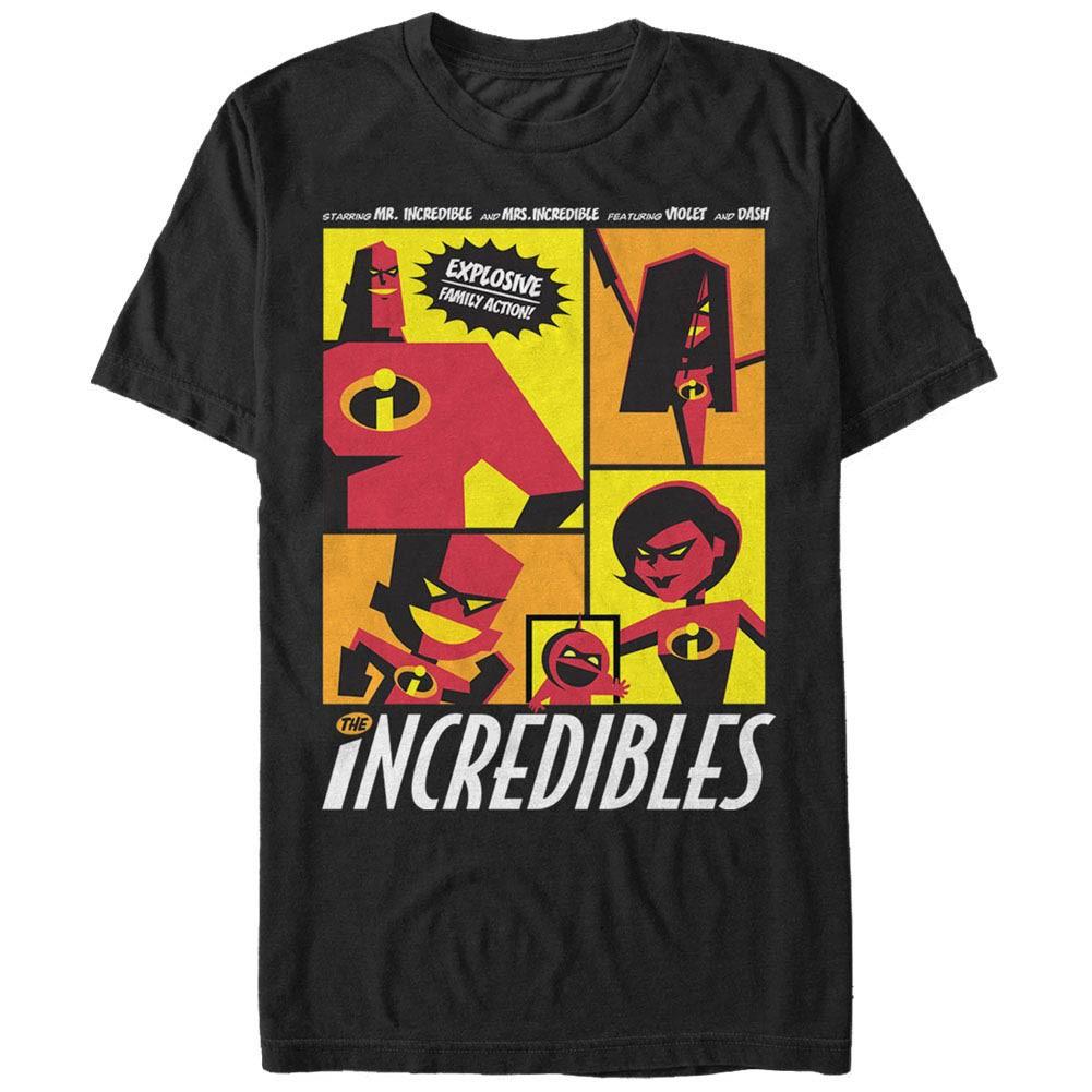 Disney Pixar The Incredibles Starring Black T-Shirt