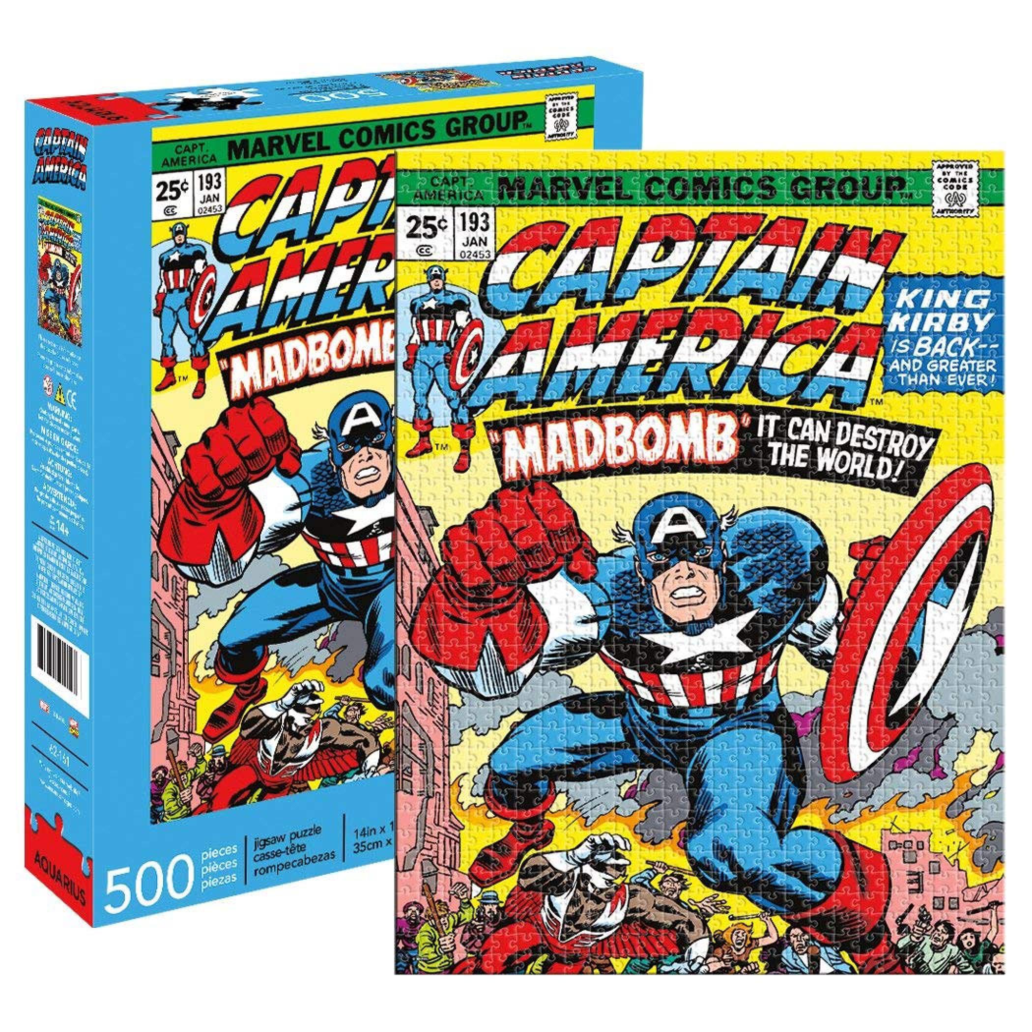 Captain America Mad Bomb Comic Cover 500 Piece Puzzle