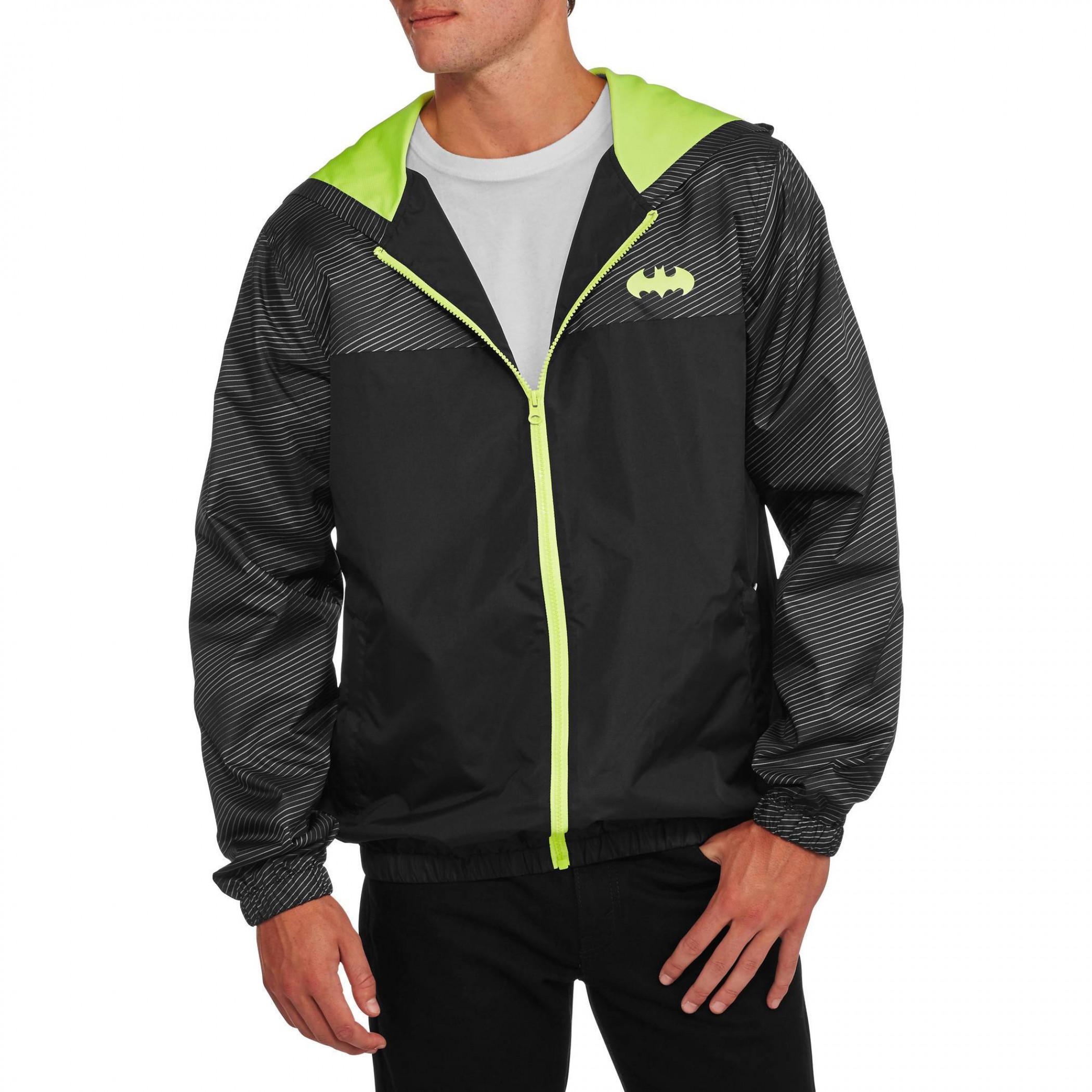 Batman Lightweight Full Zip Windbreaker Jacket