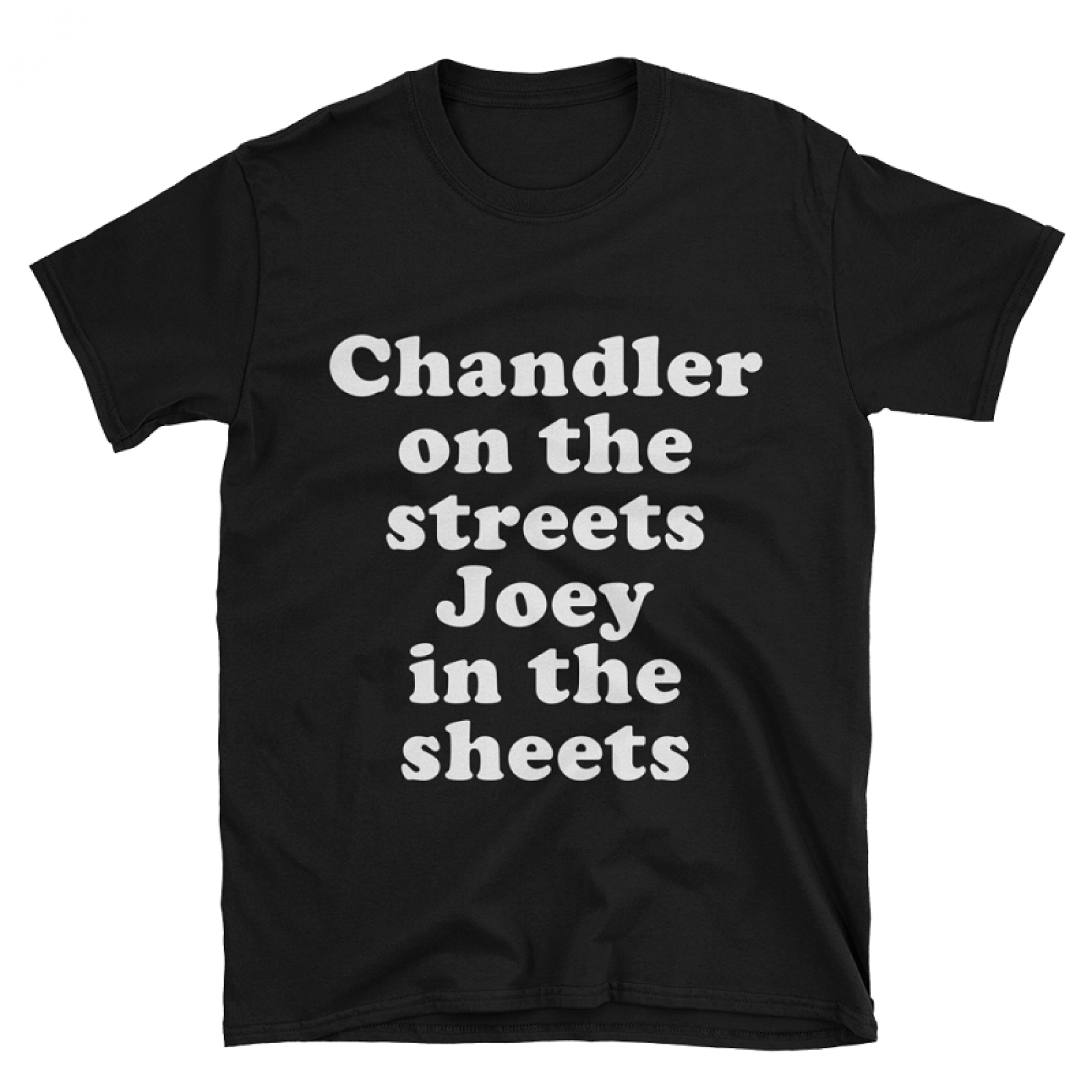 Chandler On The Streets Joey In The Sheets Men's Black T-Shirt