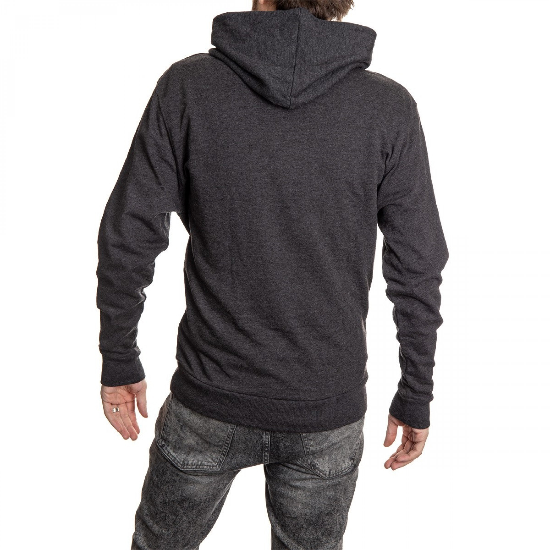 Corona Extra Washed Label Grey Hooded Sweatshirt