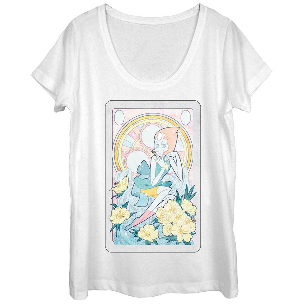 Steven Universe Pearl Card White T-Shirt