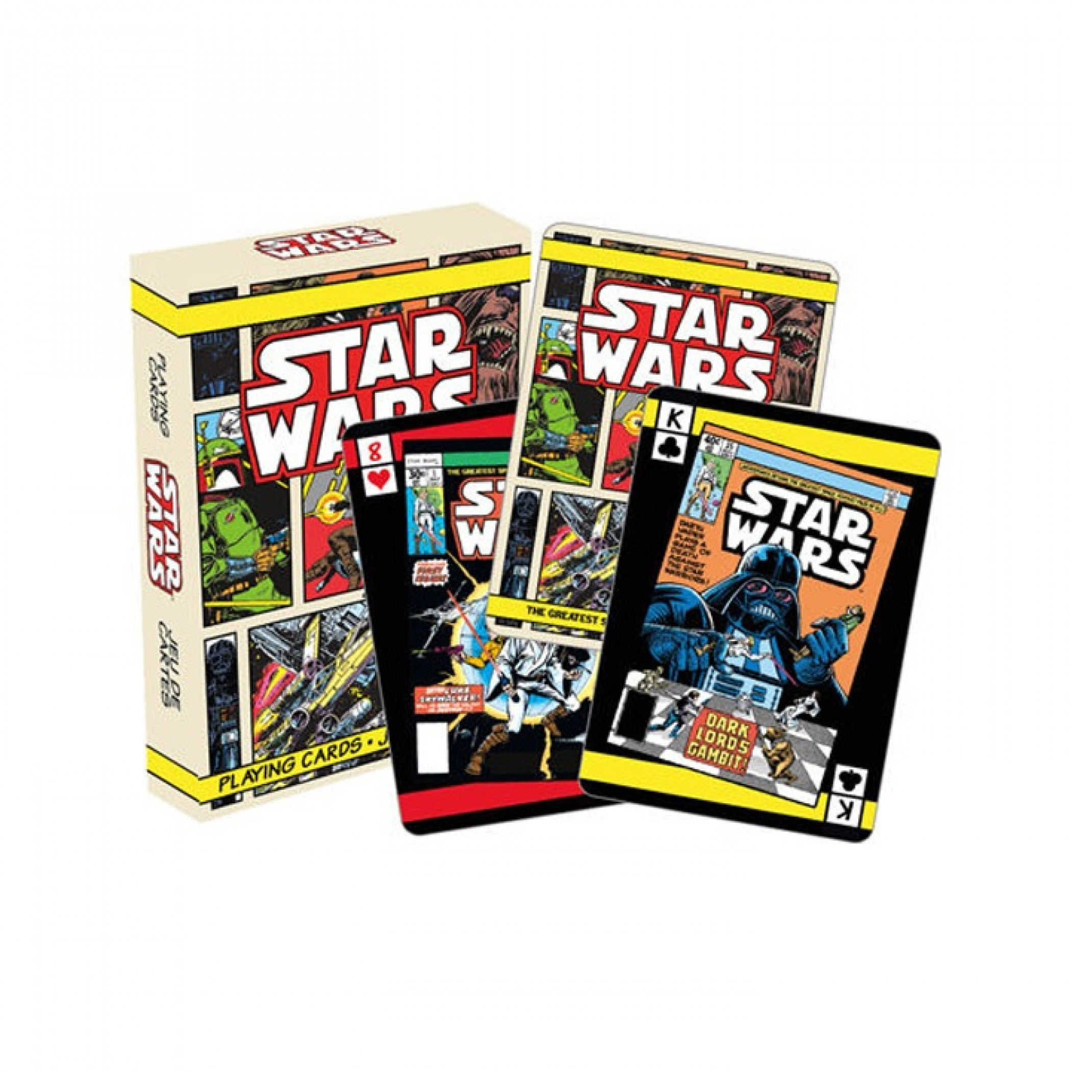 Star Wars Comic Collage Playing Cards