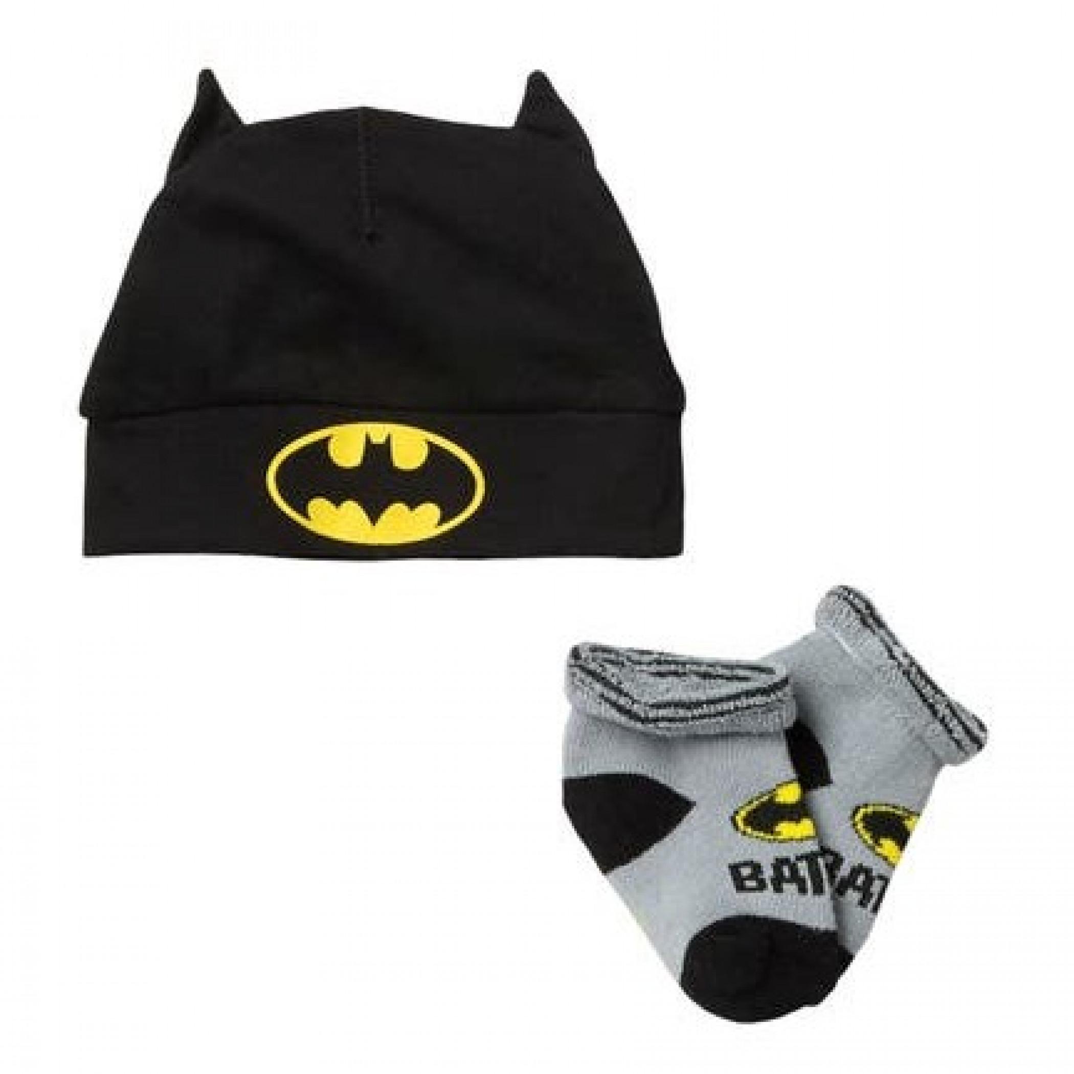 Batman 2-Piece Infant Hat and Sock Set
