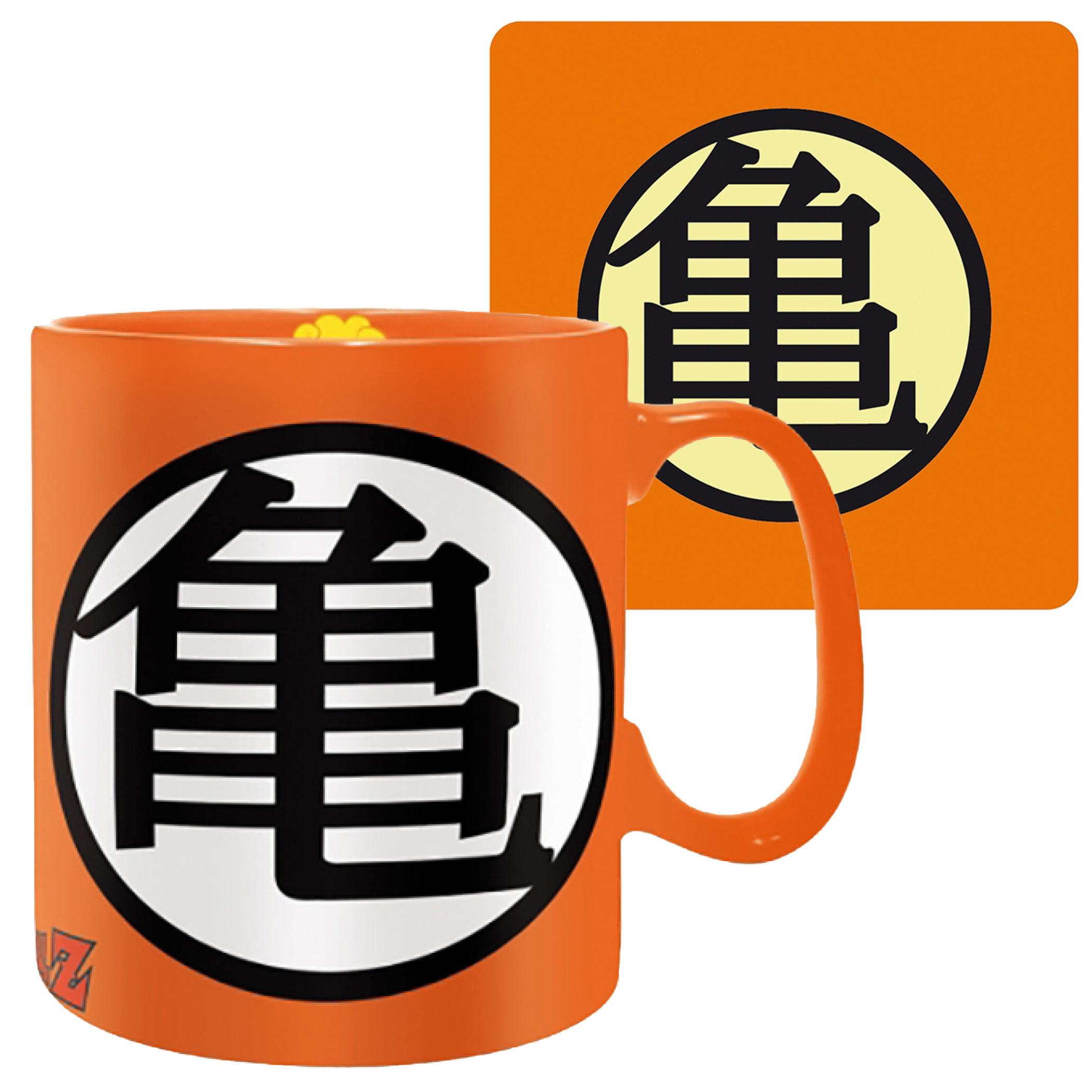 Dragon Ball Z Goku Symbol Mug and Coaster Set