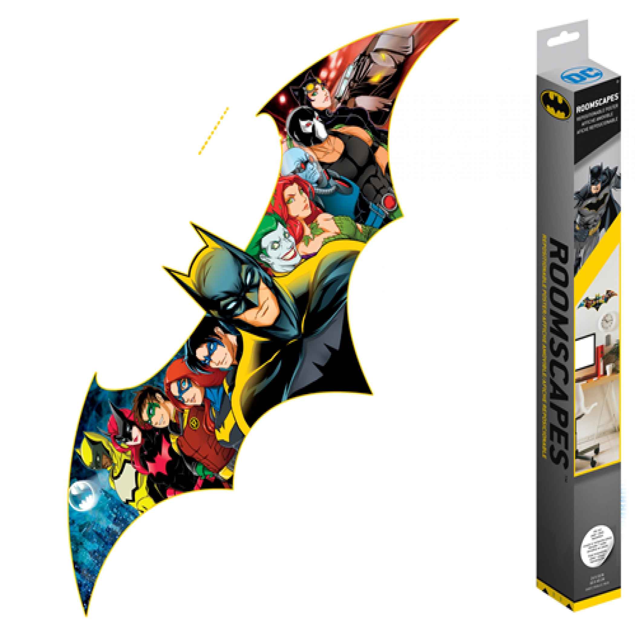 Batman and Characters 80th Anniversary Bat Logo RoomScapes Wall Decal