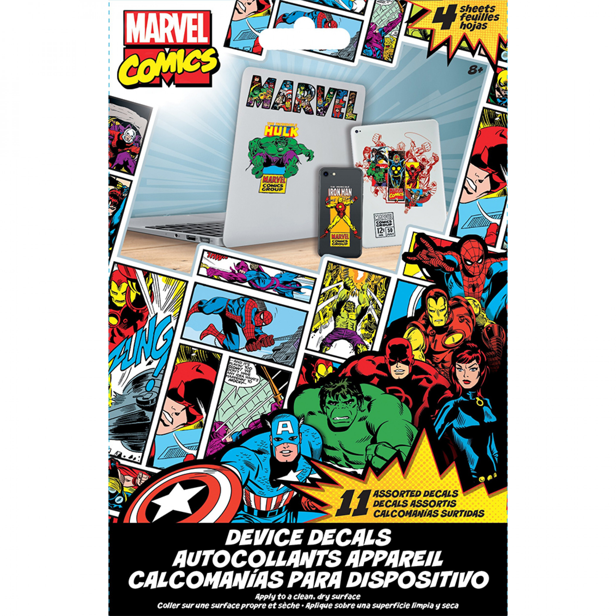 Marvel Super Heroes Classic Characters Electronic Device Decals