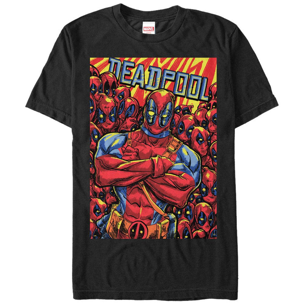 Deadpool Pool Black Mens T-Shirt