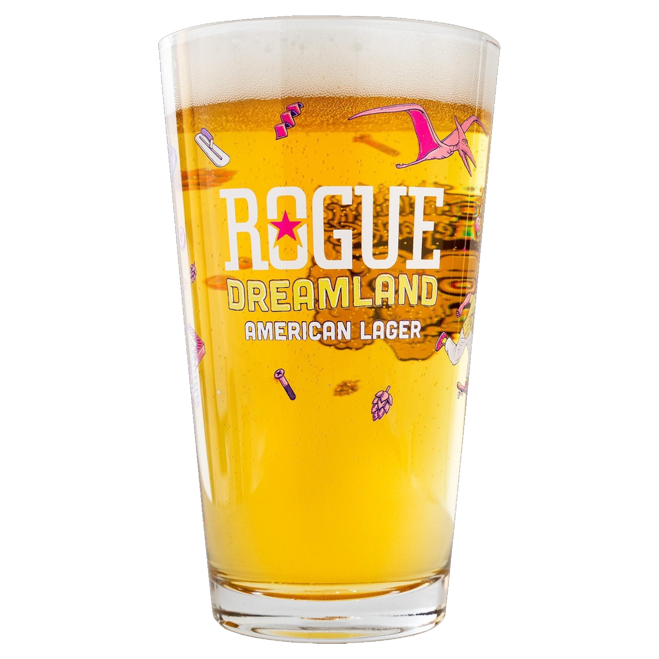 Rogue Dreamland American Lager Pint Glass
