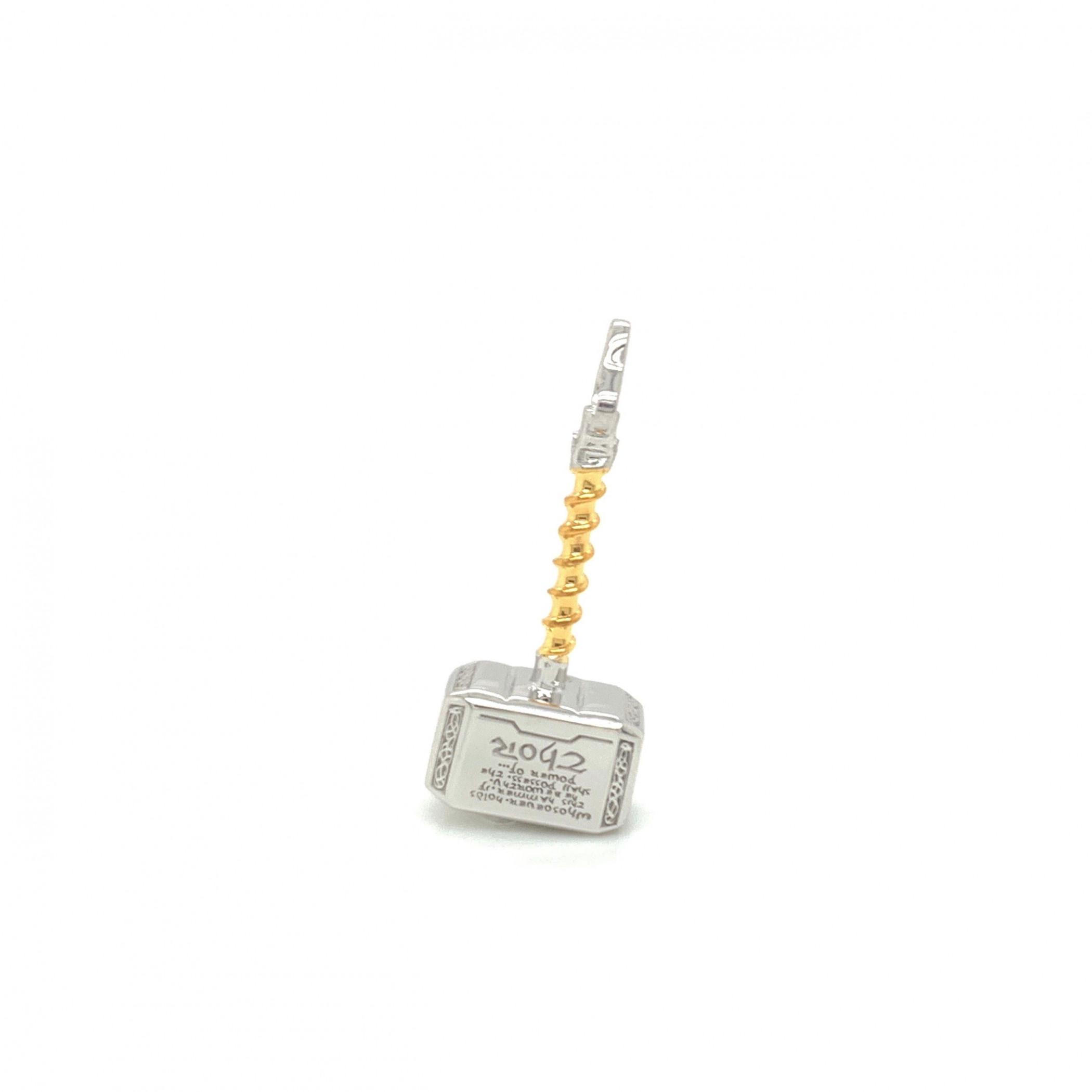 Thor Mini Mjolnir Sterling Silver Pendant