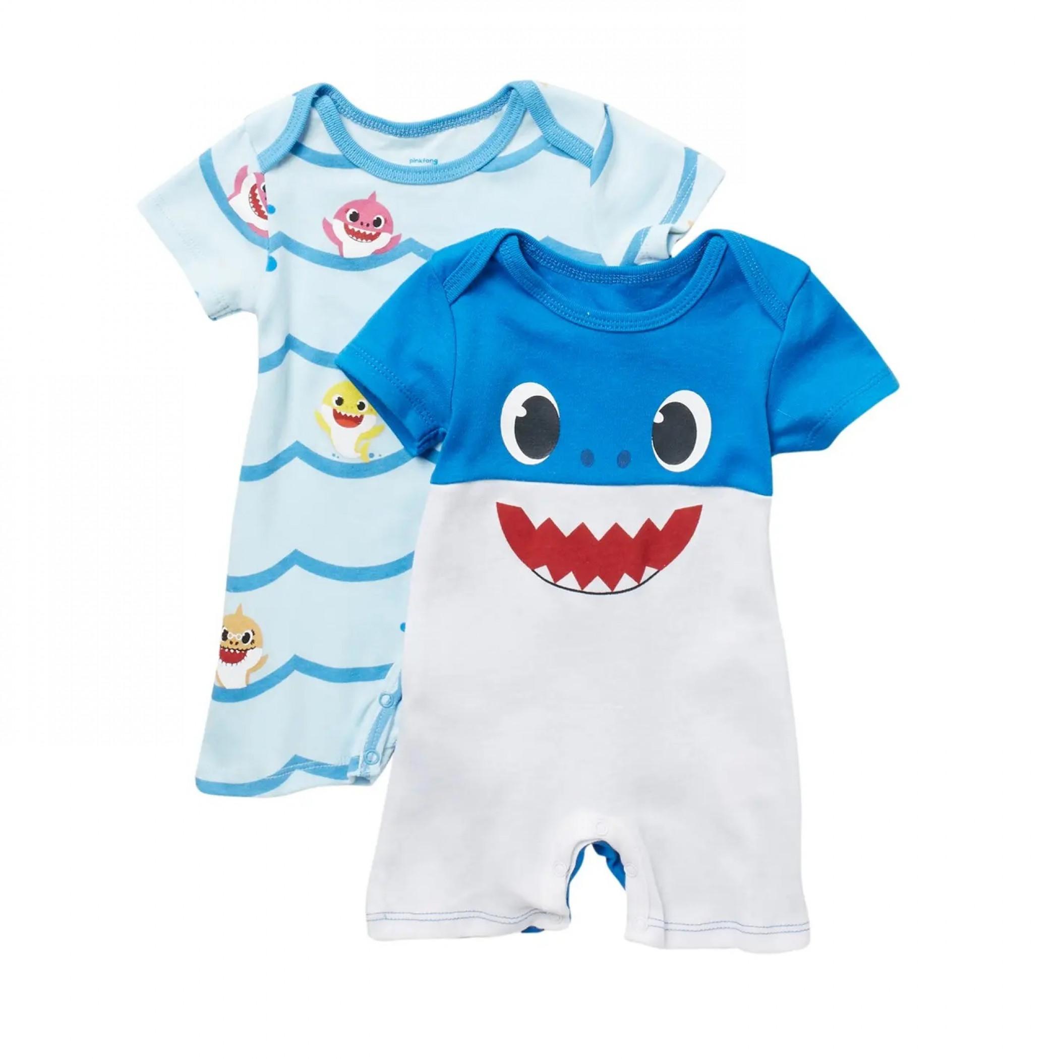 Baby Shark Romper 2 Pack
