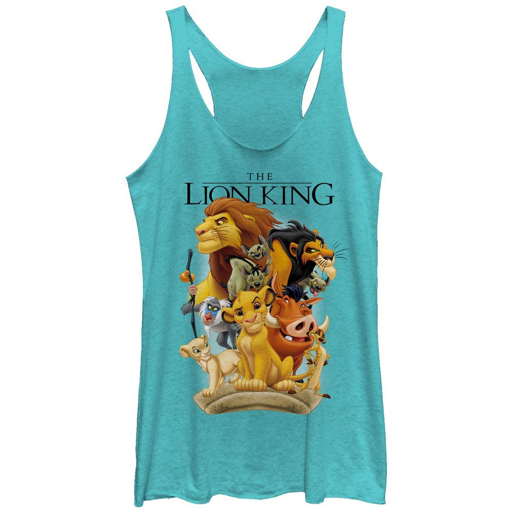 Disney Lion King Tall Cast Blue Juniors Racerback Tank Top