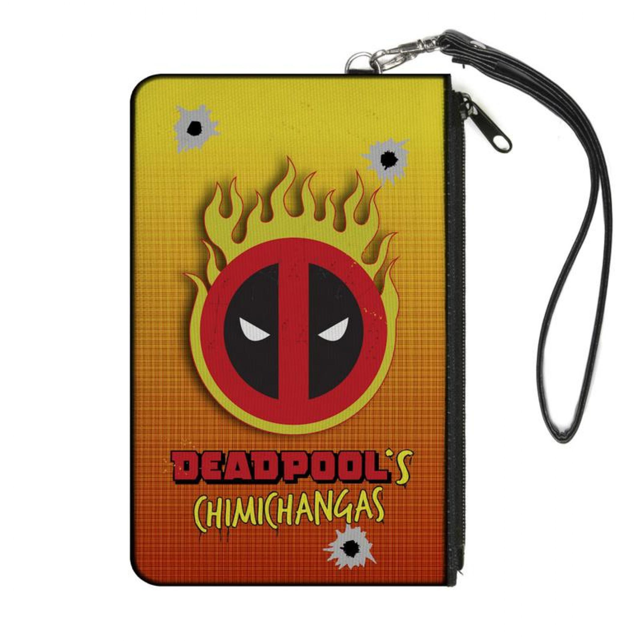 Marvel Deadpool Chimicahngas Flamigo Logo Canvas Wallet