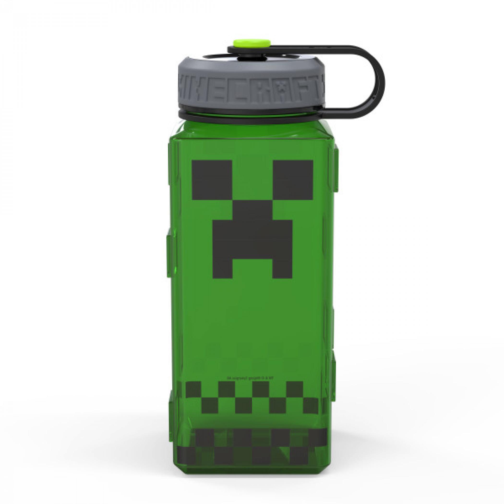 Minecraft Creeper 36oz Square Plastic Water Bottle