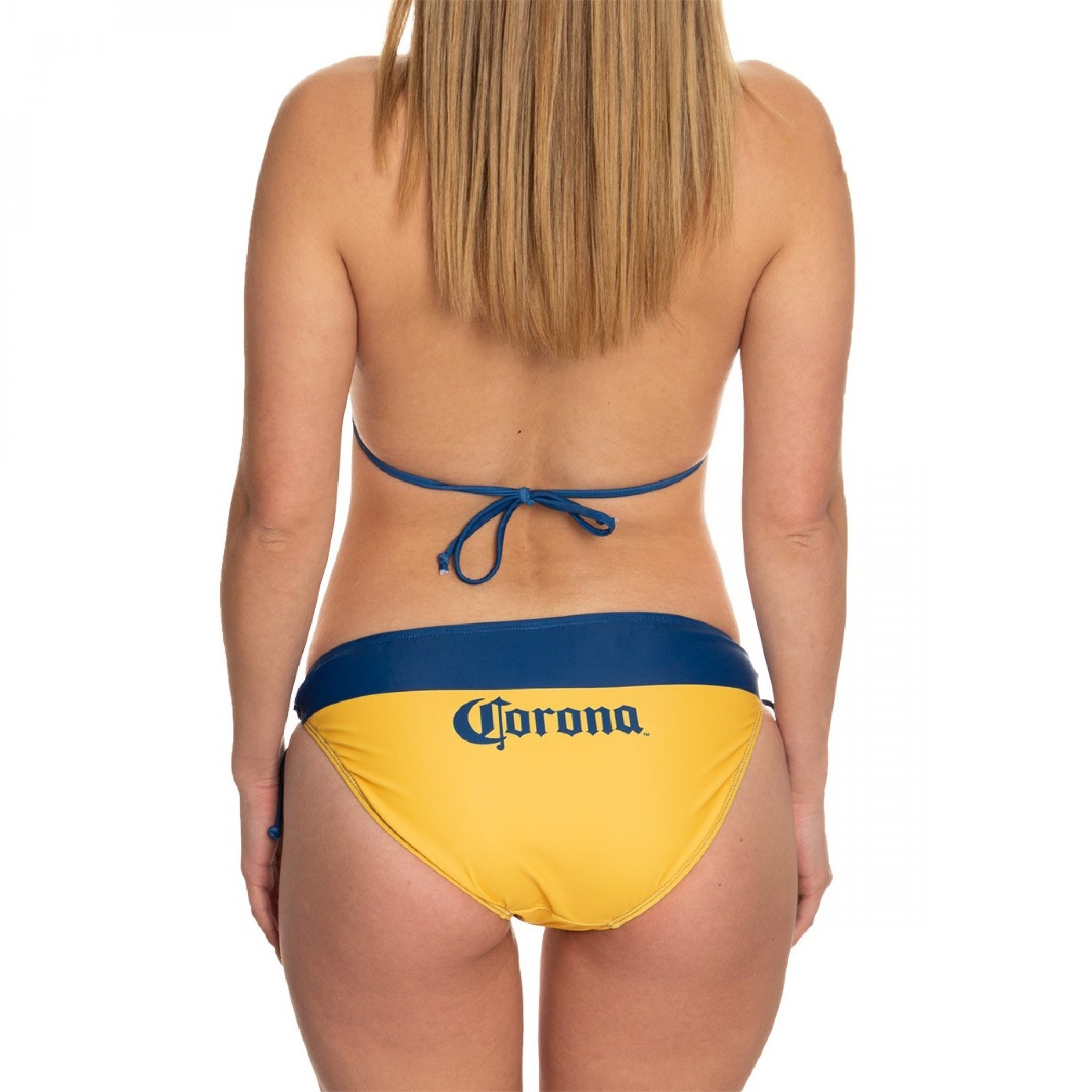 Corona Extra Navy Embroidered Gold Bikini Swimsuit