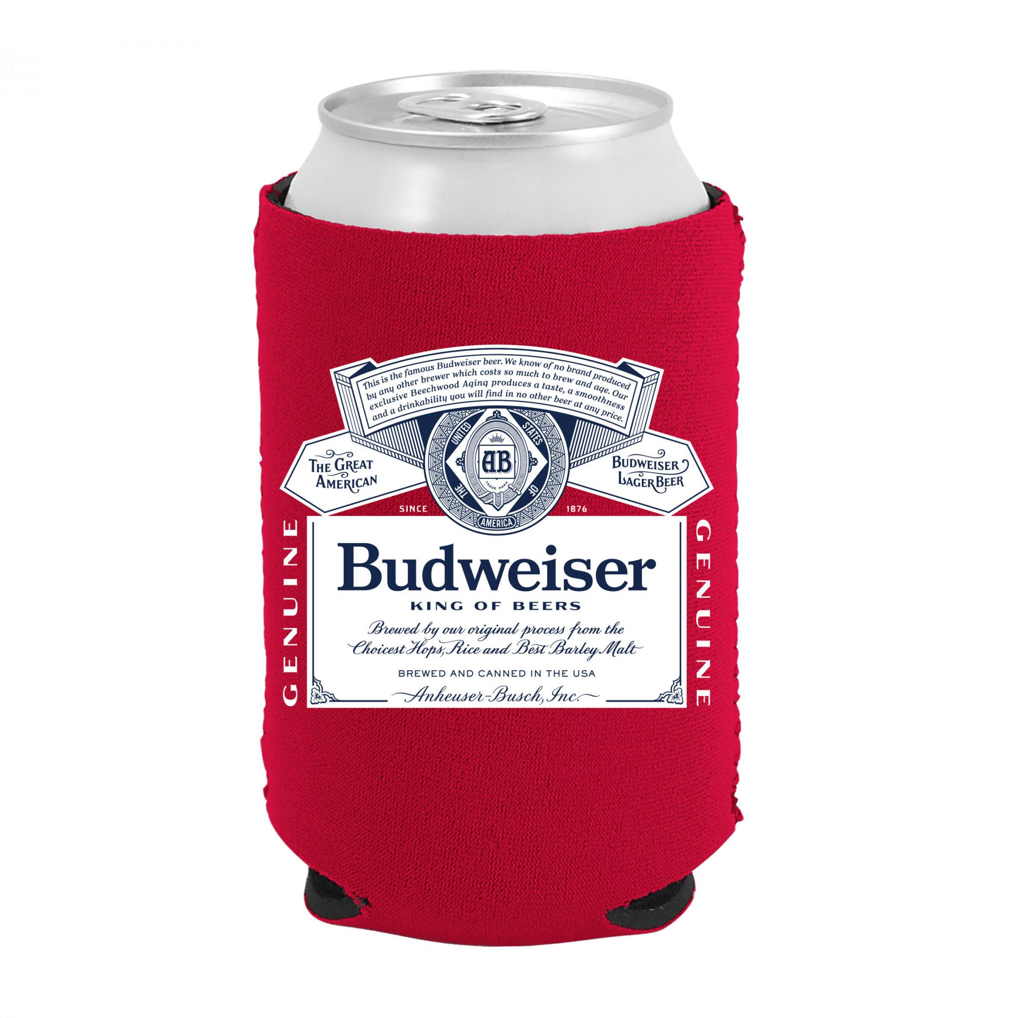 Budweiser Beer Bottle Label Can Cooler