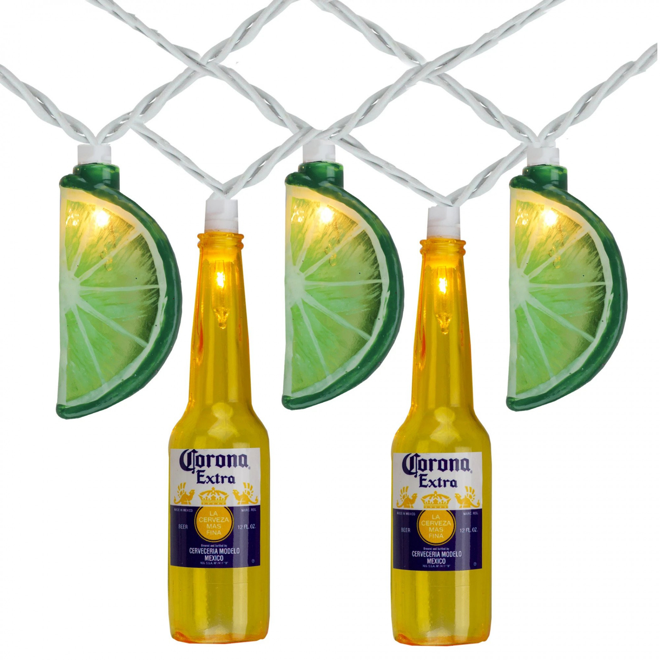 Corona Extra Beer Bottle and Limes String Lights