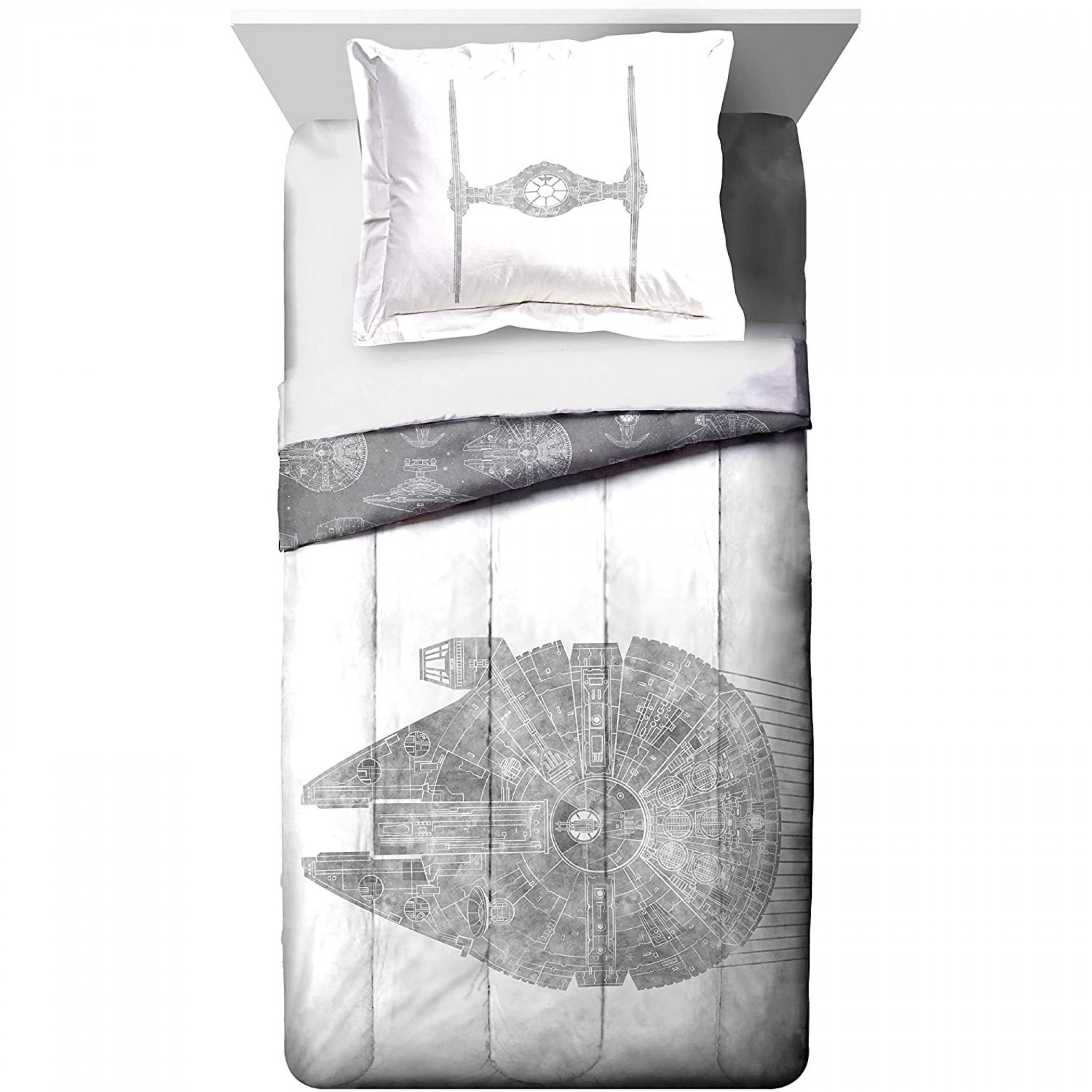 Star Wars Millenium Falcon Queen Size Comforter Bedding