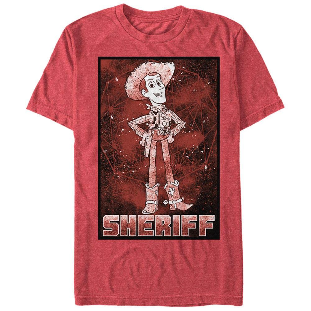 Disney Pixar Toy Story 1-3 Sheriff Woody Red T-Shirt
