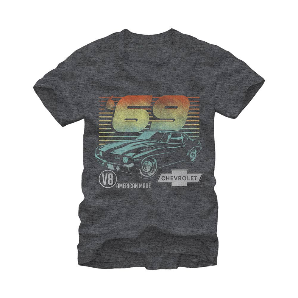 Chevrolet General Motors 69 Camero Gray T-Shirt