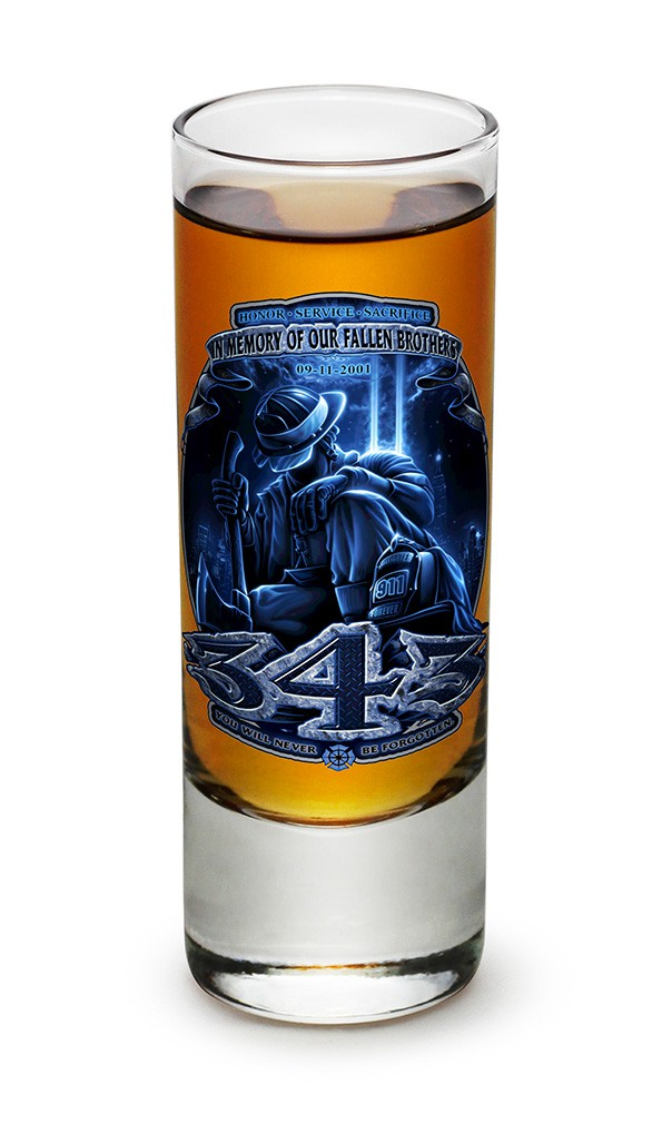 Firefighter Fallen Brothers Shot Glass