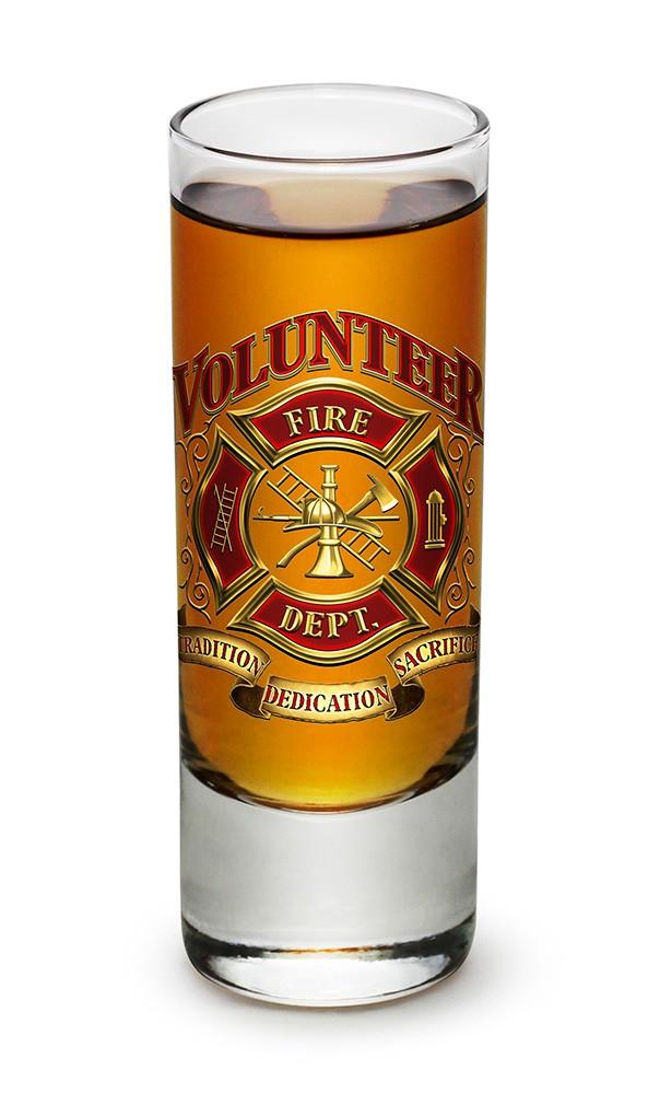 Volunteer Firefighter Shot Glass