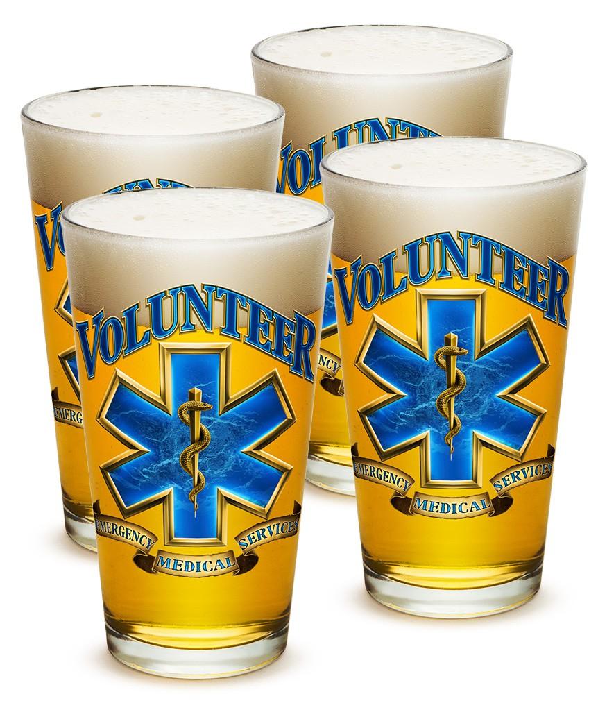Four Pack Volunteer EMS Beer Pints