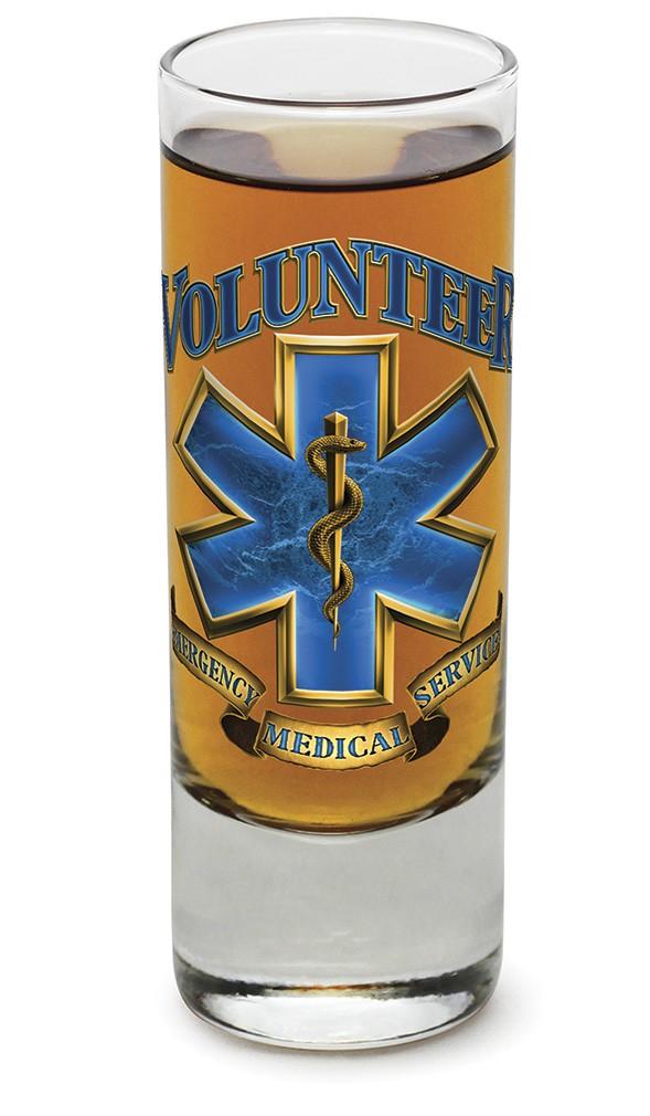 Emergency Medical Services Volunteer Shot Glass