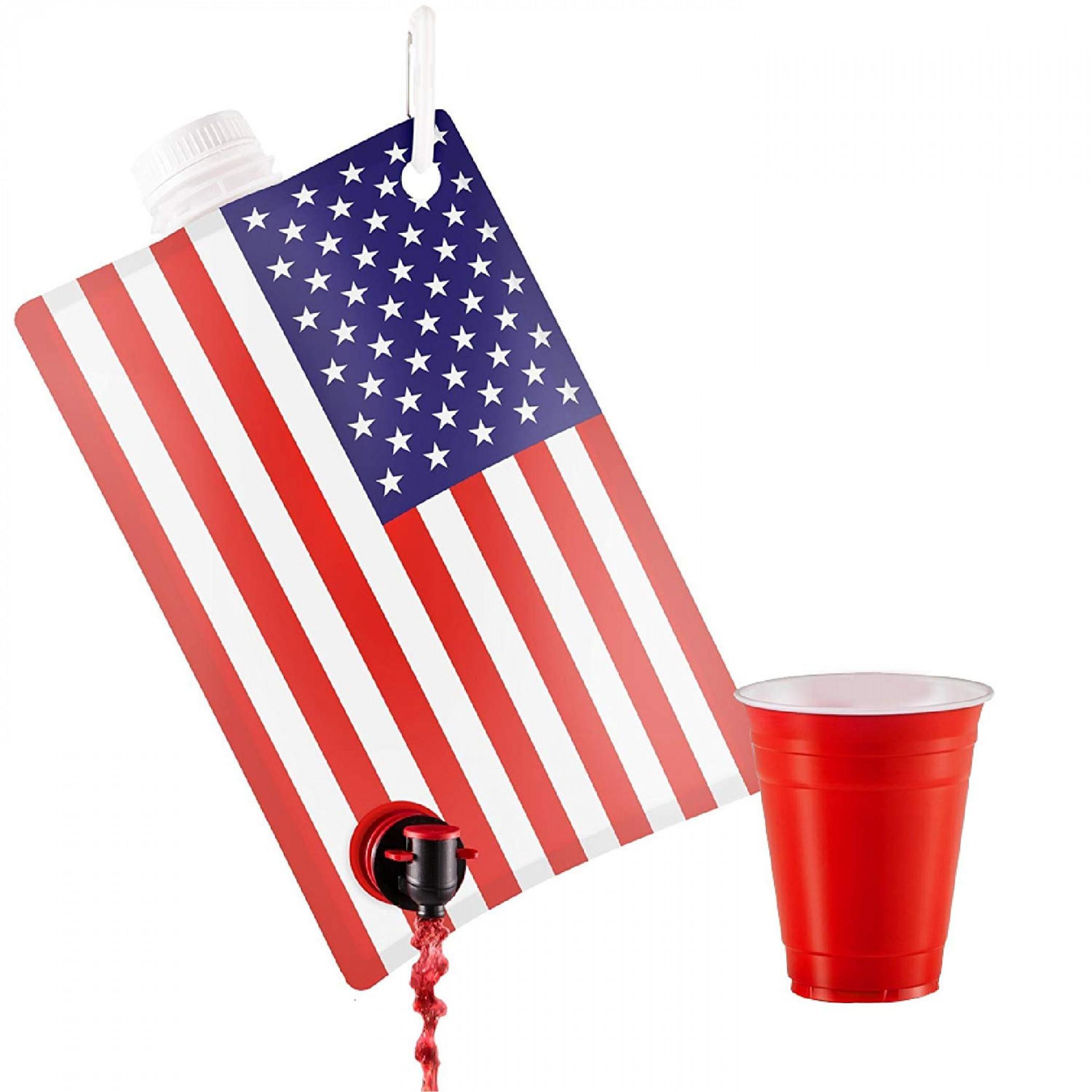 American Flag 2-Liter Drink Dispenser