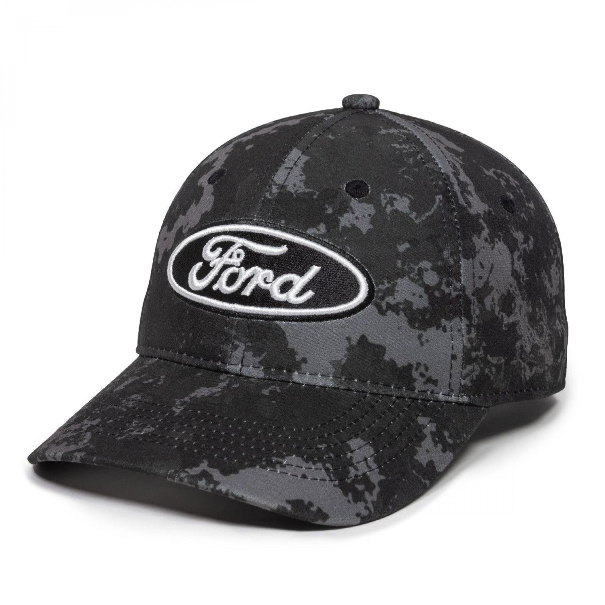 Ford Motor Company Logo Dark Camo Adjustable Hat