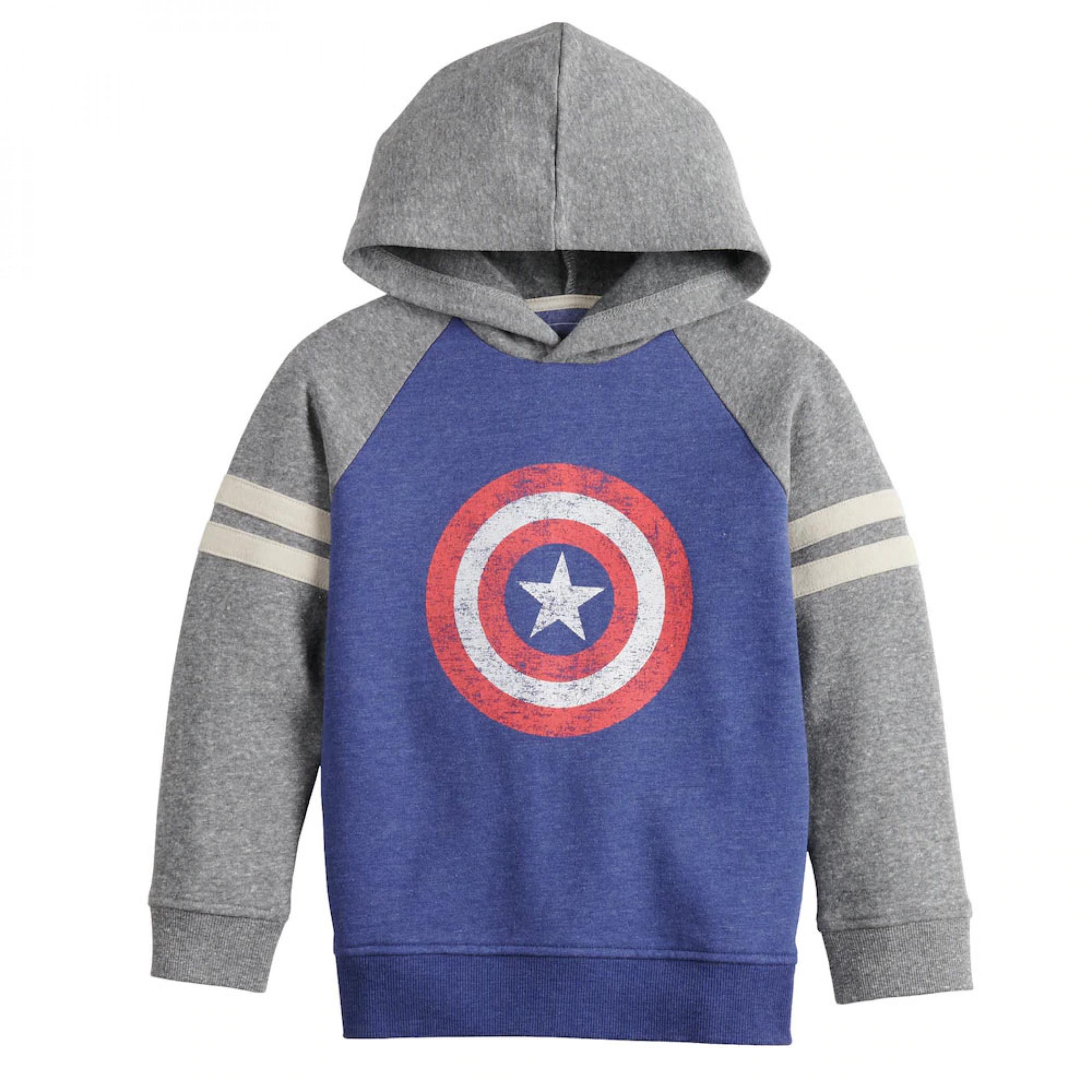 Captain America Shield Symbol Sonoma Good for Life Boys Hoodie