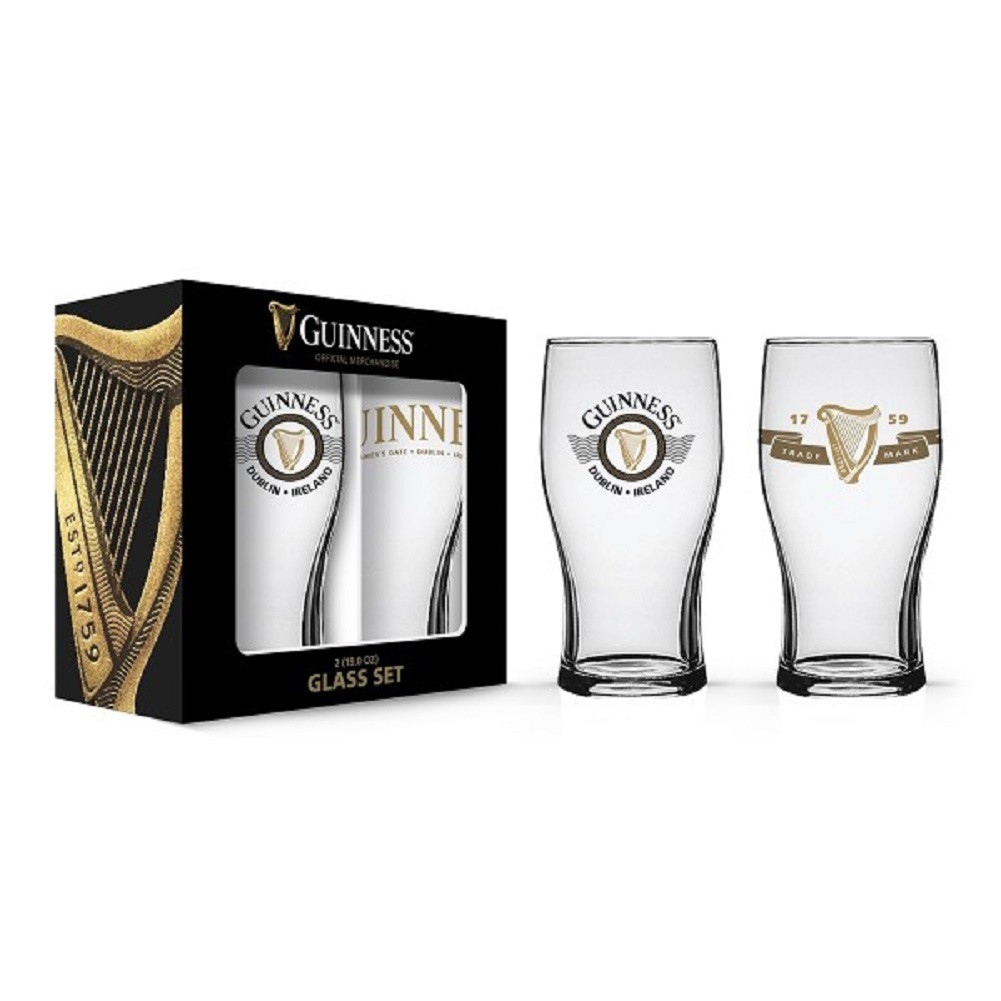 Guinness Harp Logo 2 Pack Pint Glass Set