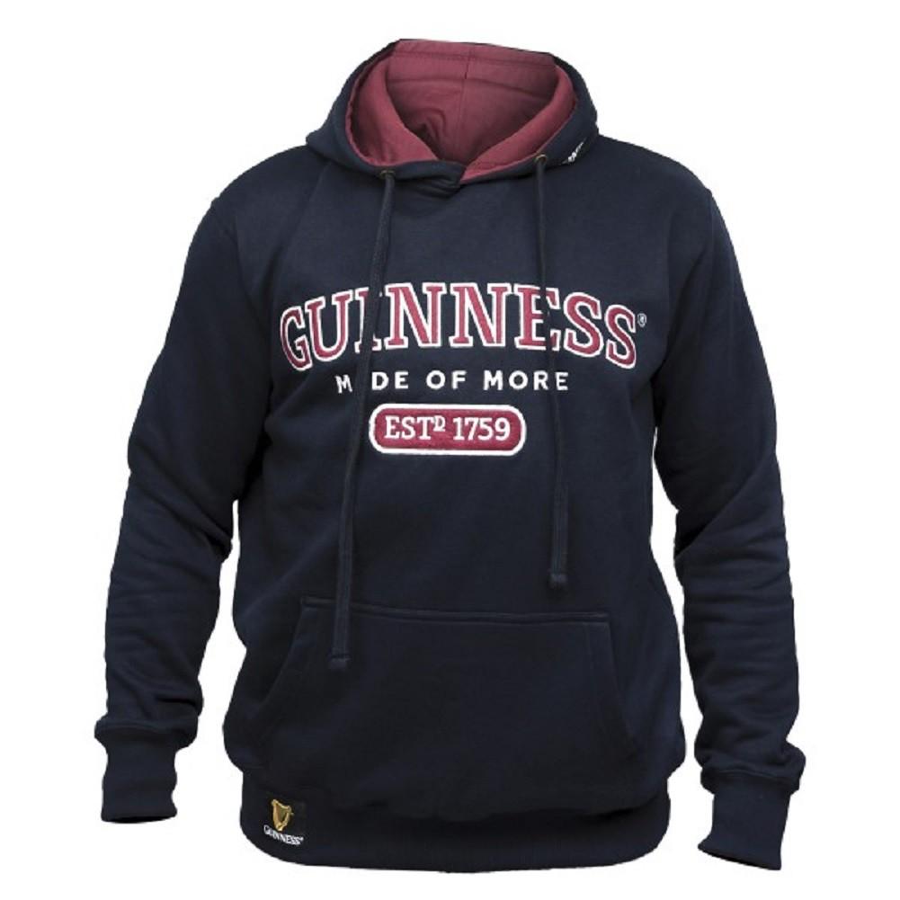 Guinness Beer Made of More Men's Black Hoodie