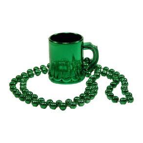 St. Patrick's Day Green Mug Necklace
