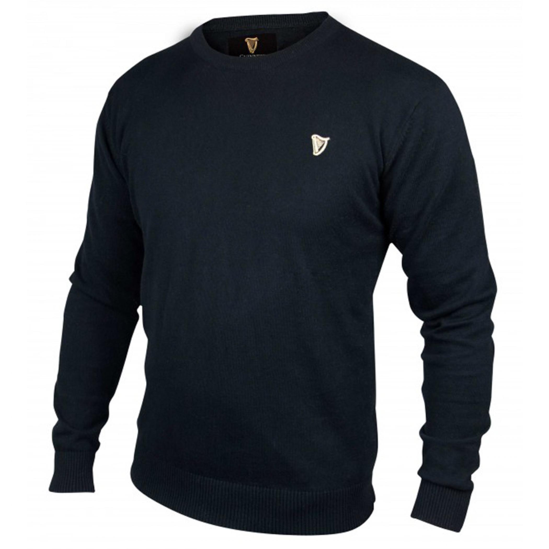 Guinness Classic Black Cotton 100% Cotton Sweater